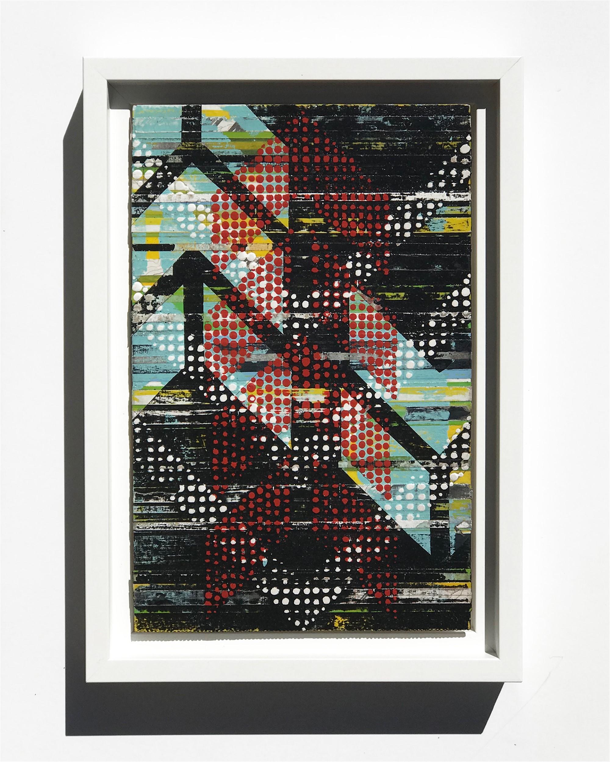 Chevron Repeat, Black Study No.11 by Nina Tichava