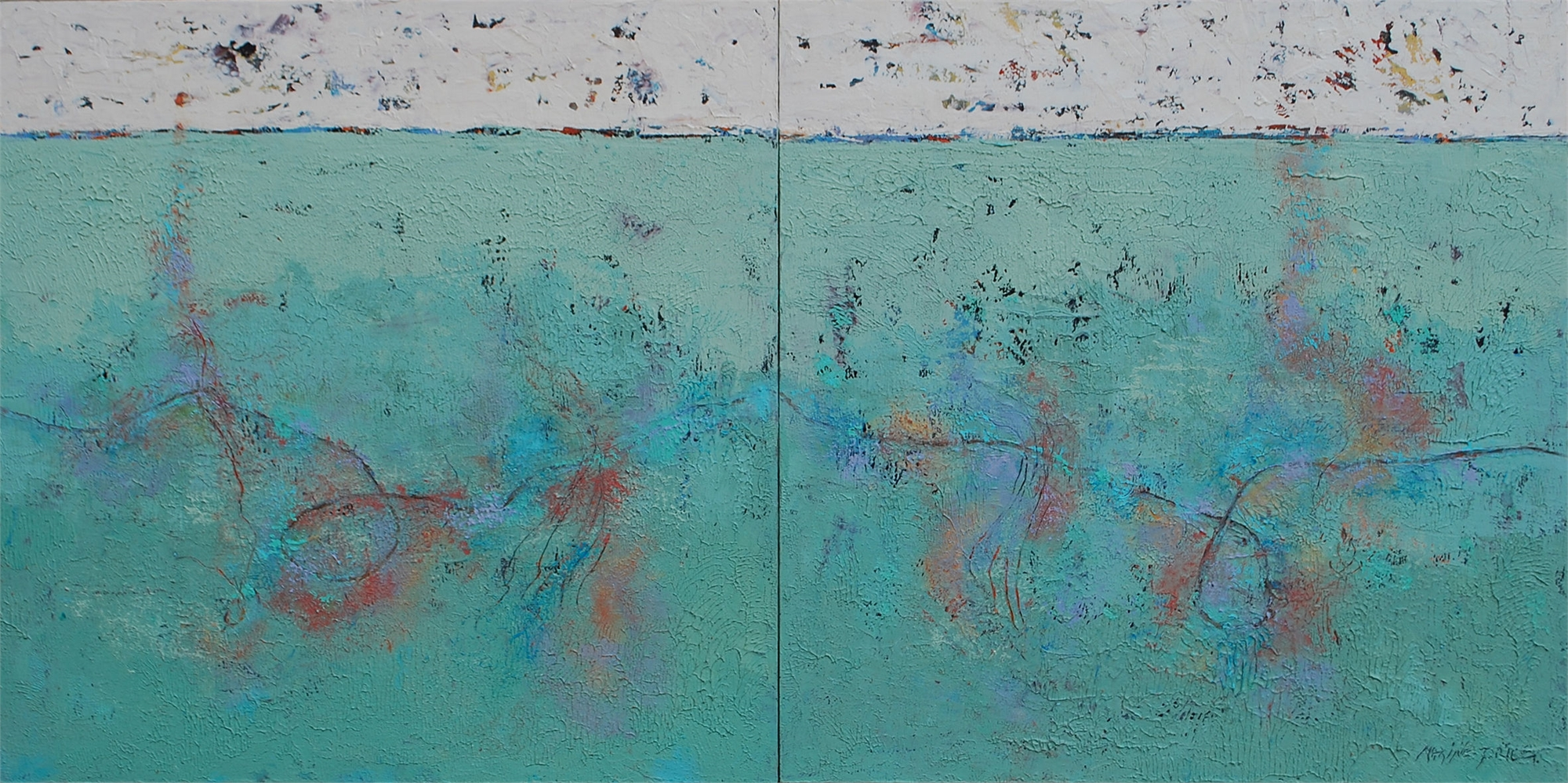 Drawing Conclusions (diptych) by Maxine Price