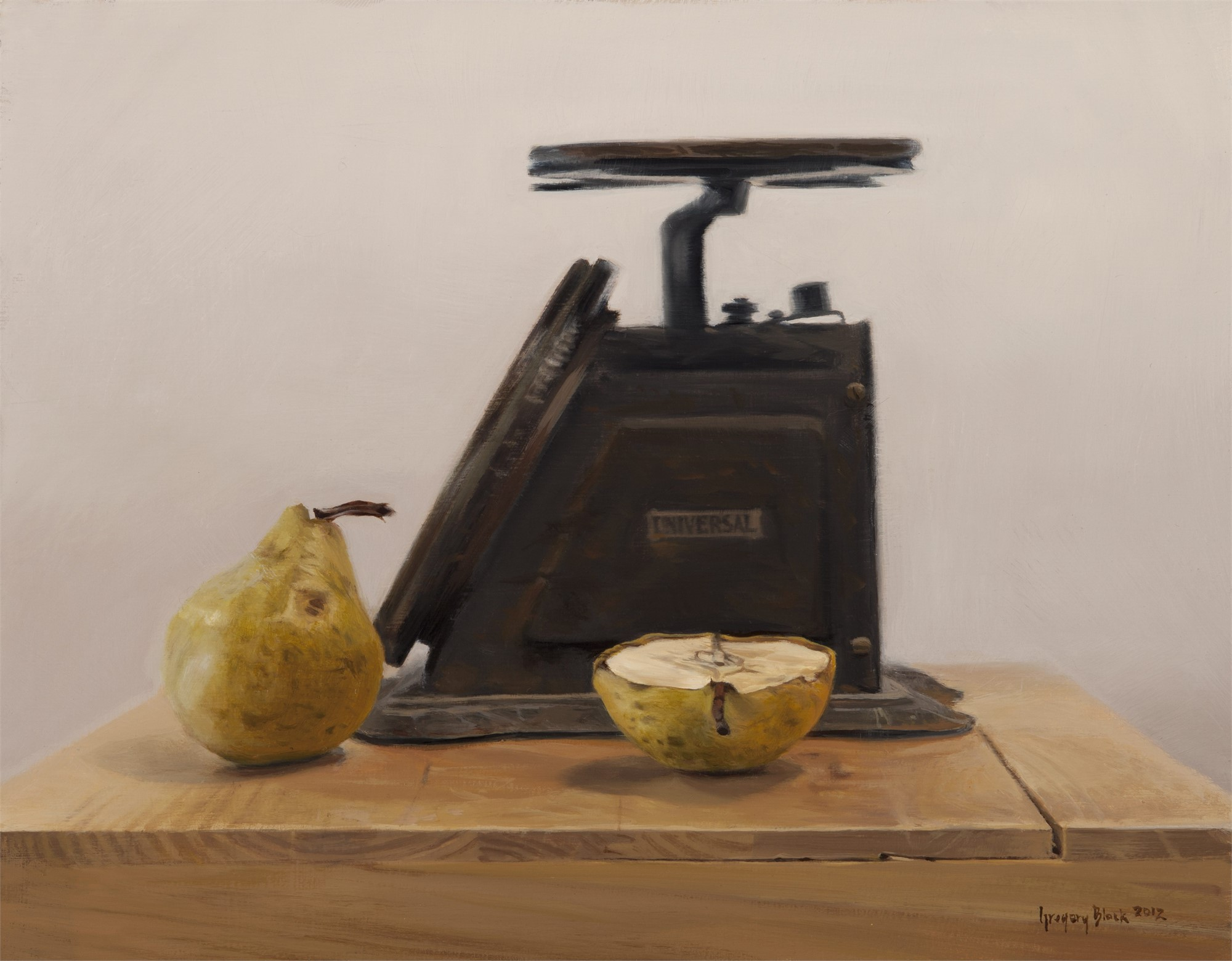 Pears and Scale by Gregory Block