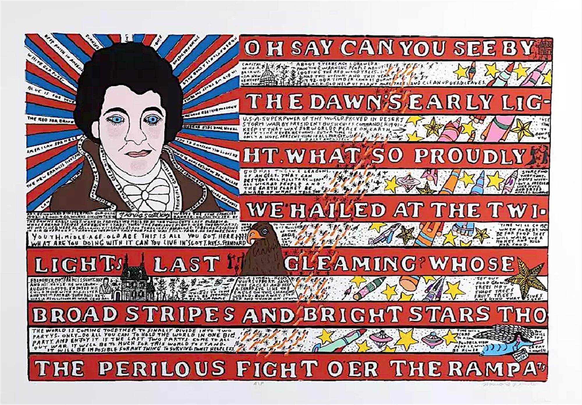 Flag by Howard Finster
