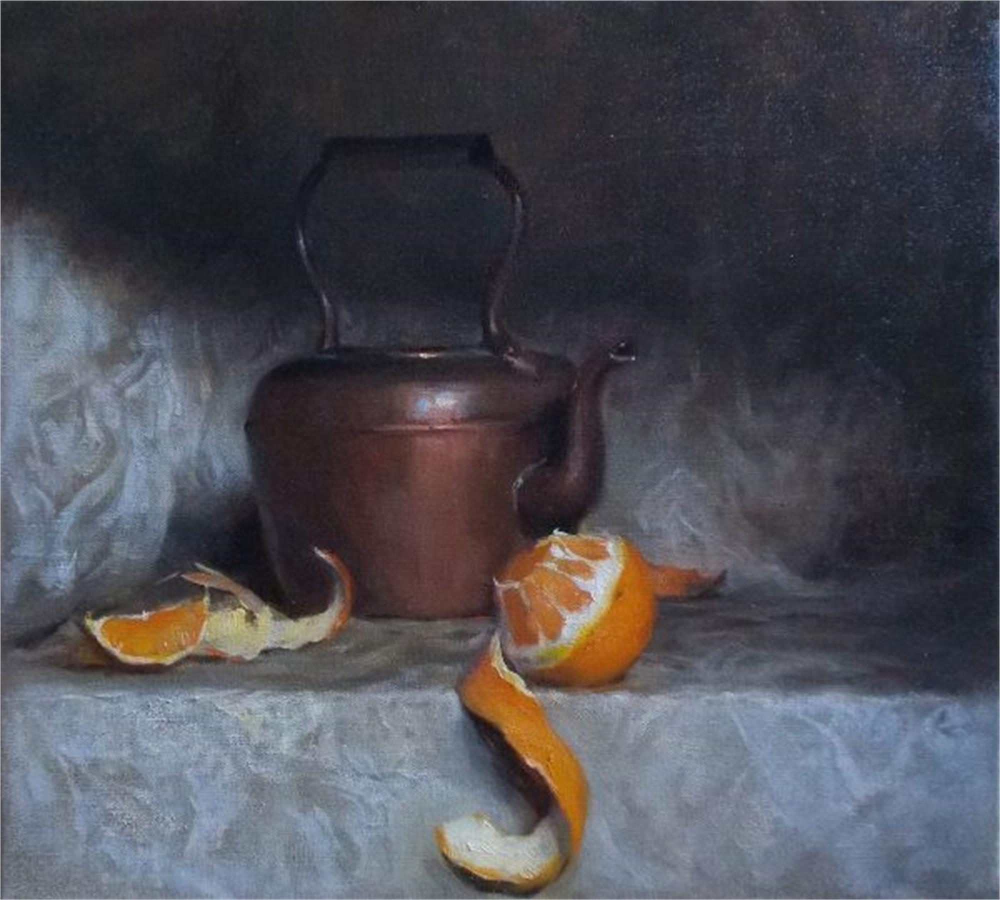 Still Life with Orange Peel by Tanvi Pathare