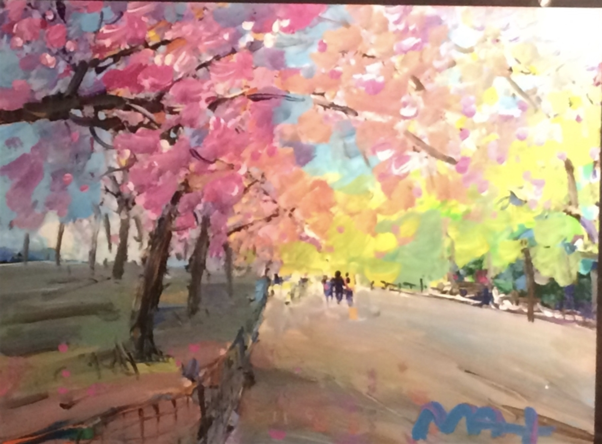 Four Seasons II: Spring Central Park by Peter Max