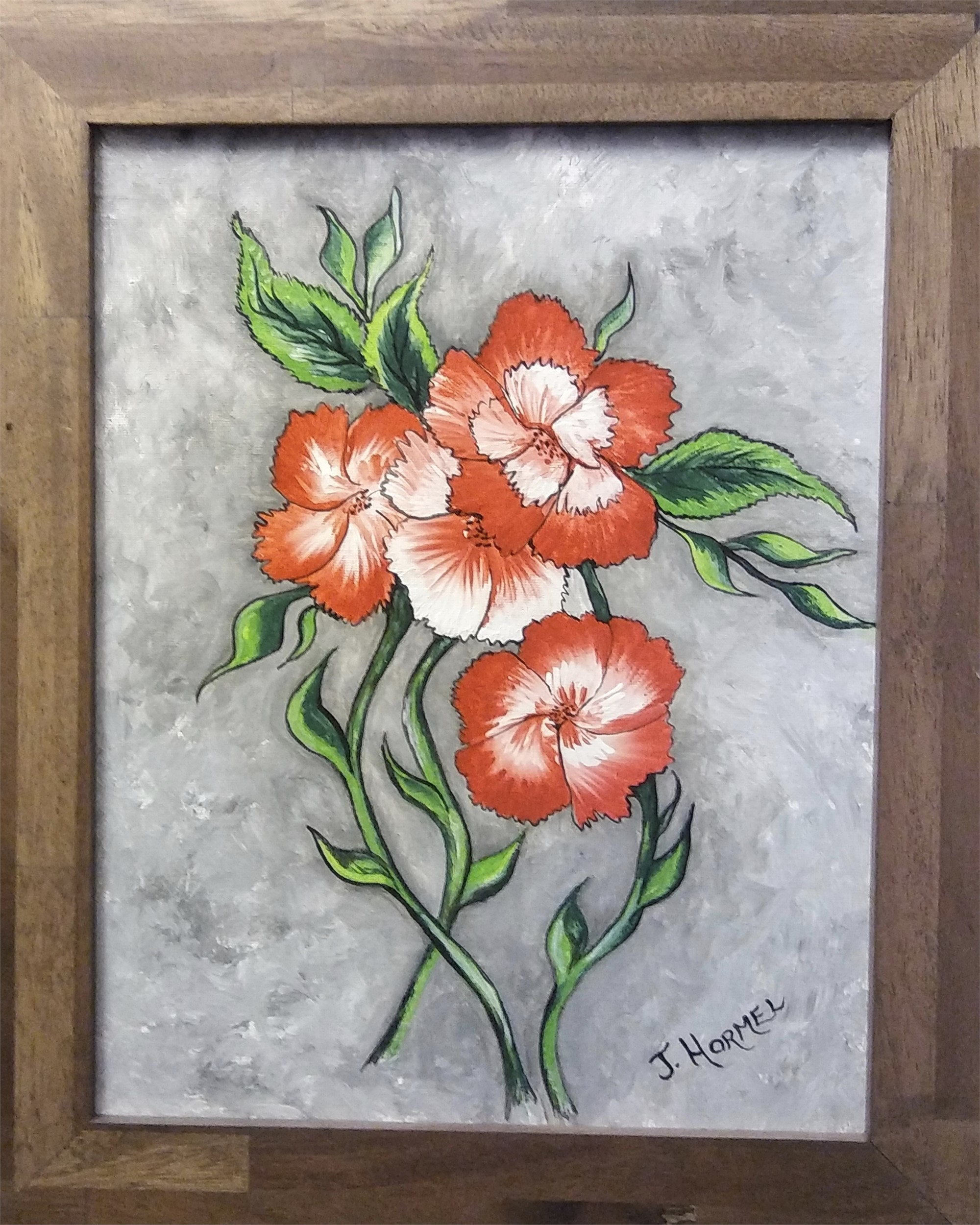Swirled Flowers by June Hormel (Newberg, OR)