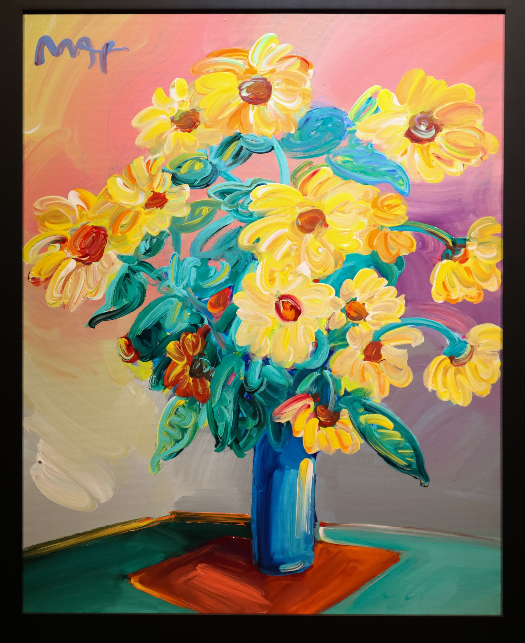 HOMAGE TO MONET: SUNFLOWERS by Peter Max