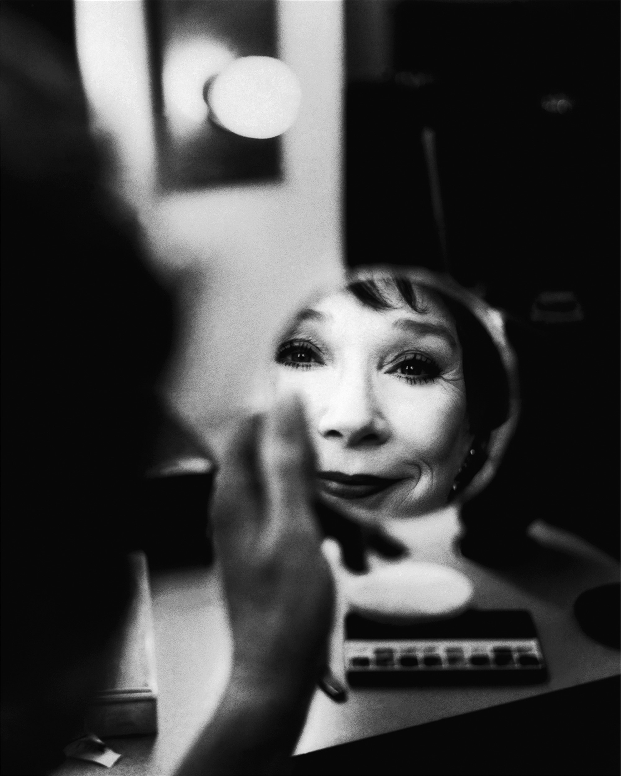 91092 Shirley MacLaine Mirror BW by Timothy White