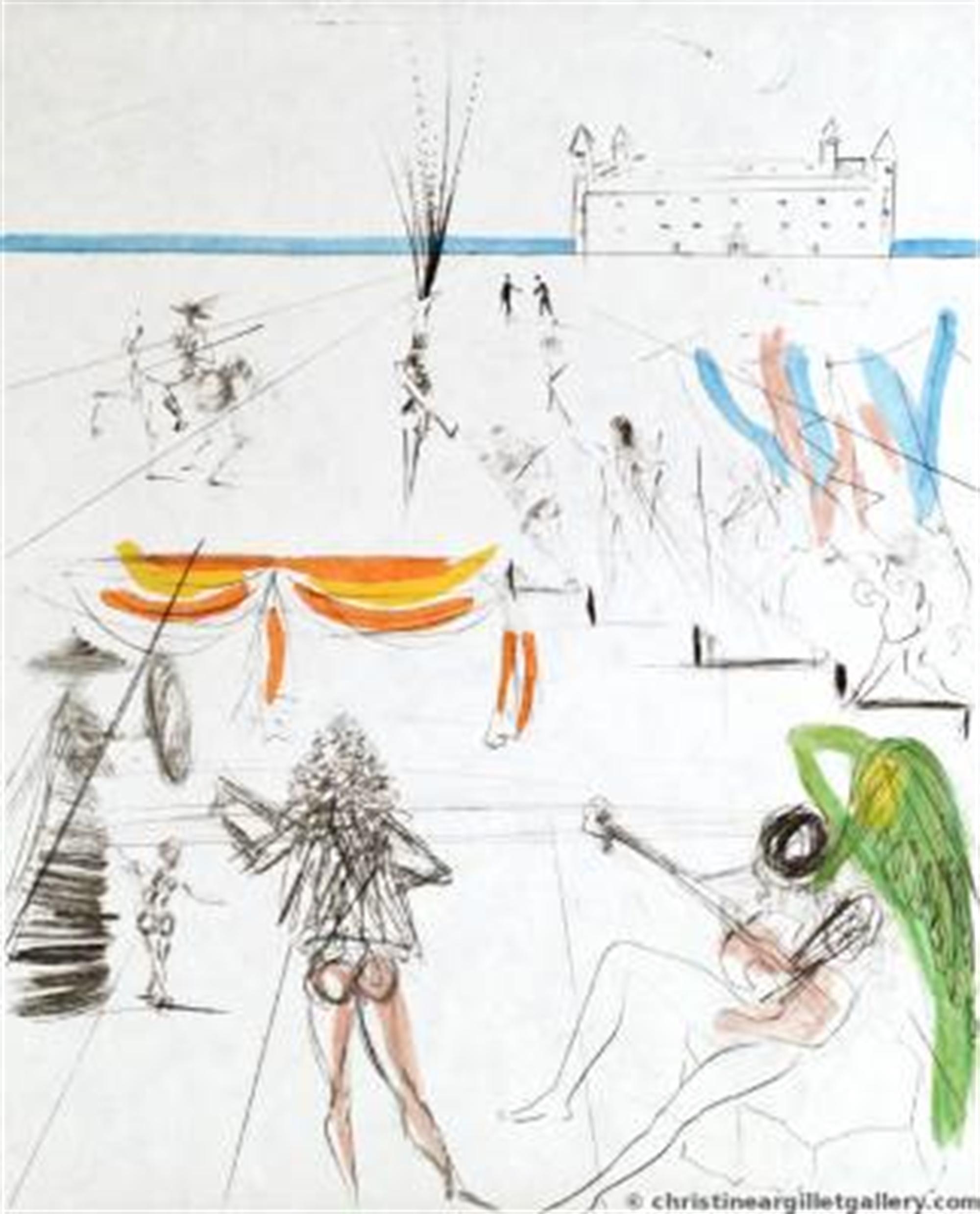 "The Hippies ""Santiago of Compostella"" by Salvador Dali"