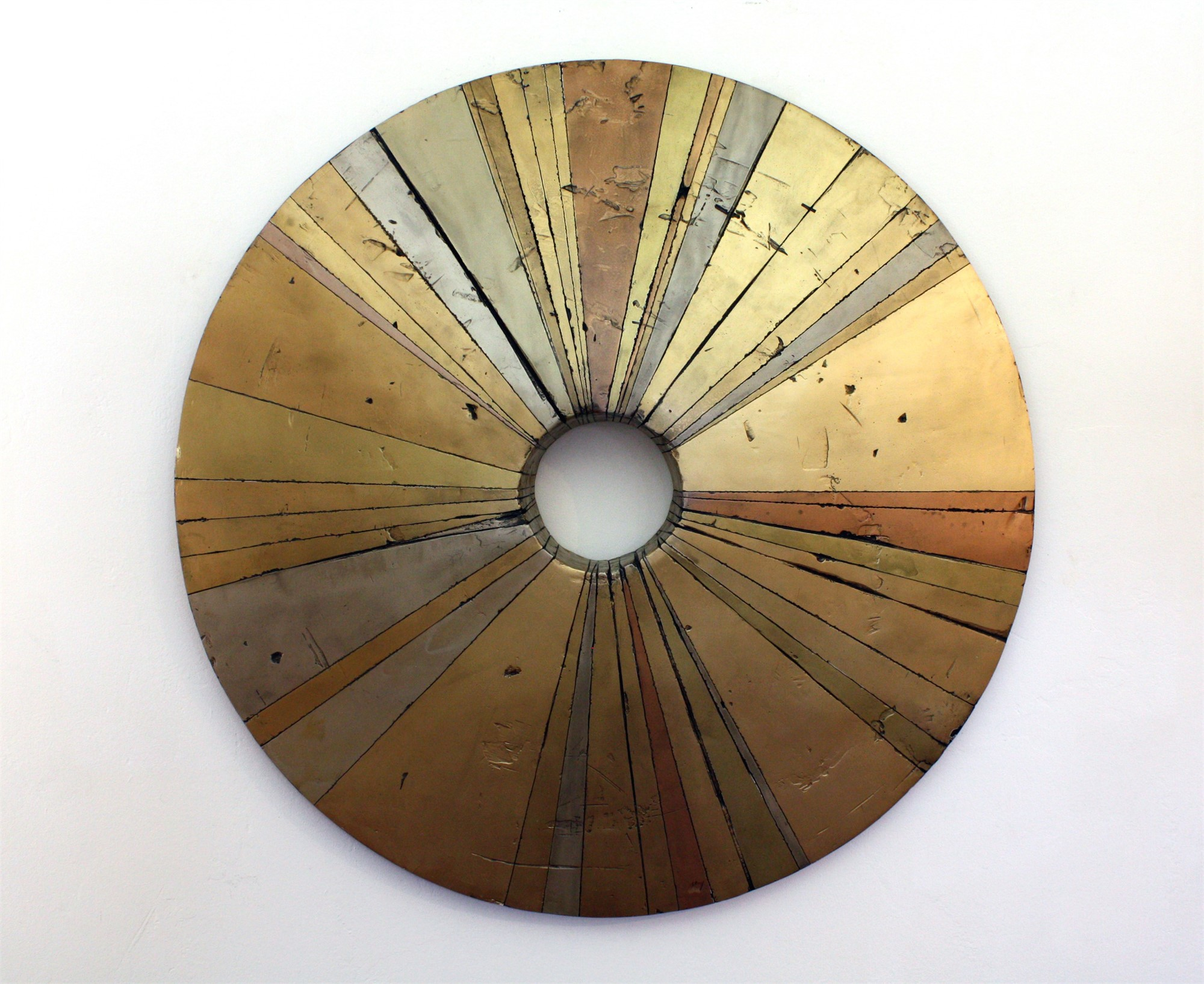 Wheel-like Object, Gold by Curtis Olson