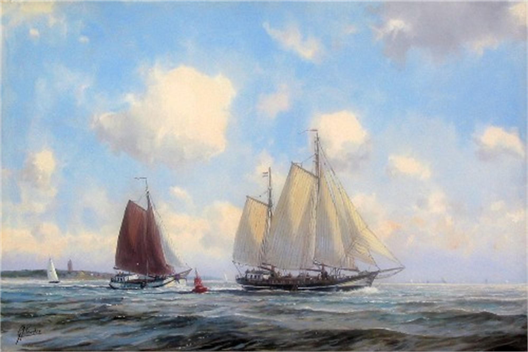 SAILING THE NORTH SEA by VEENSTRA