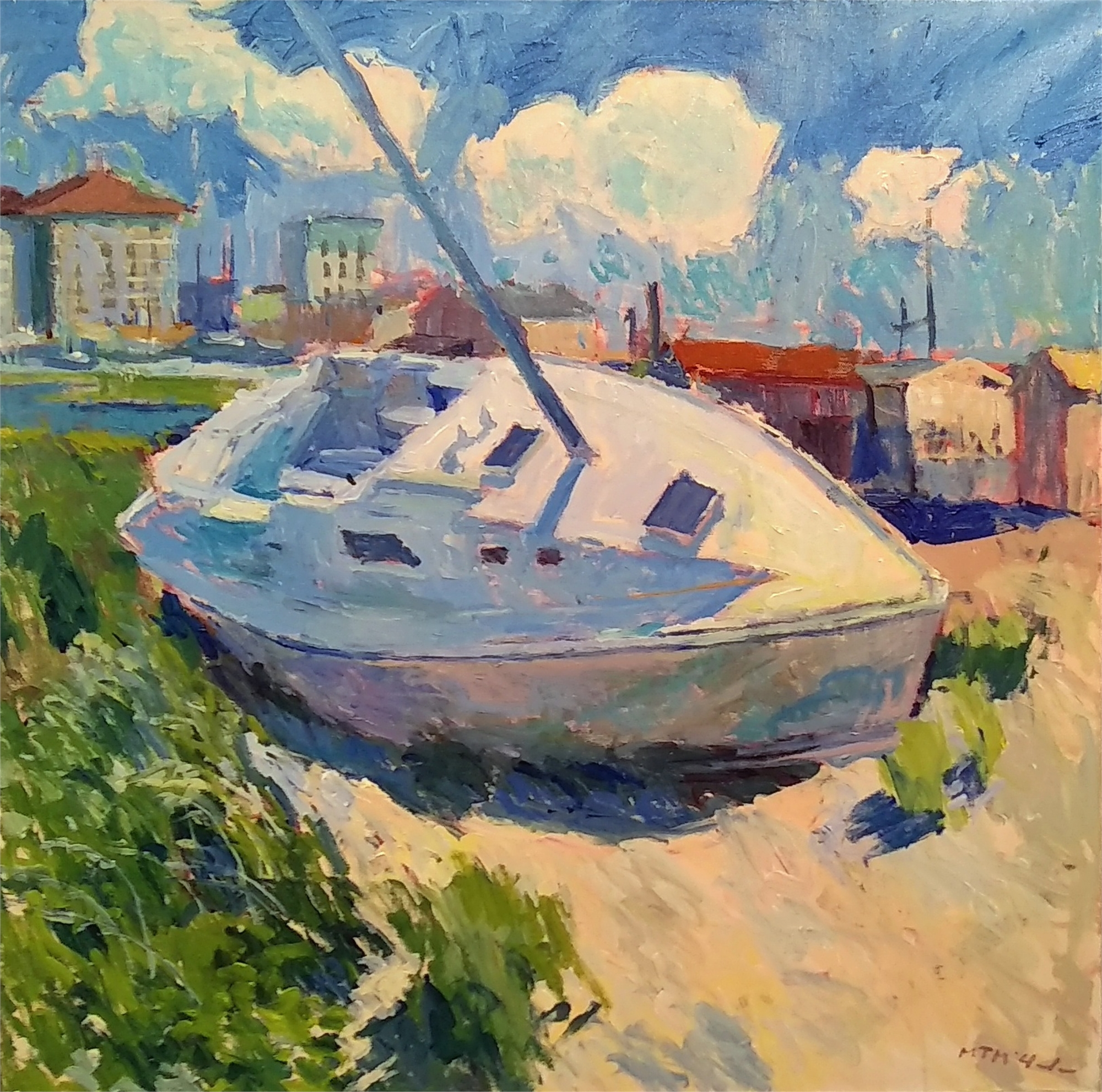 Beached Sailboat by M.T. McClanahan