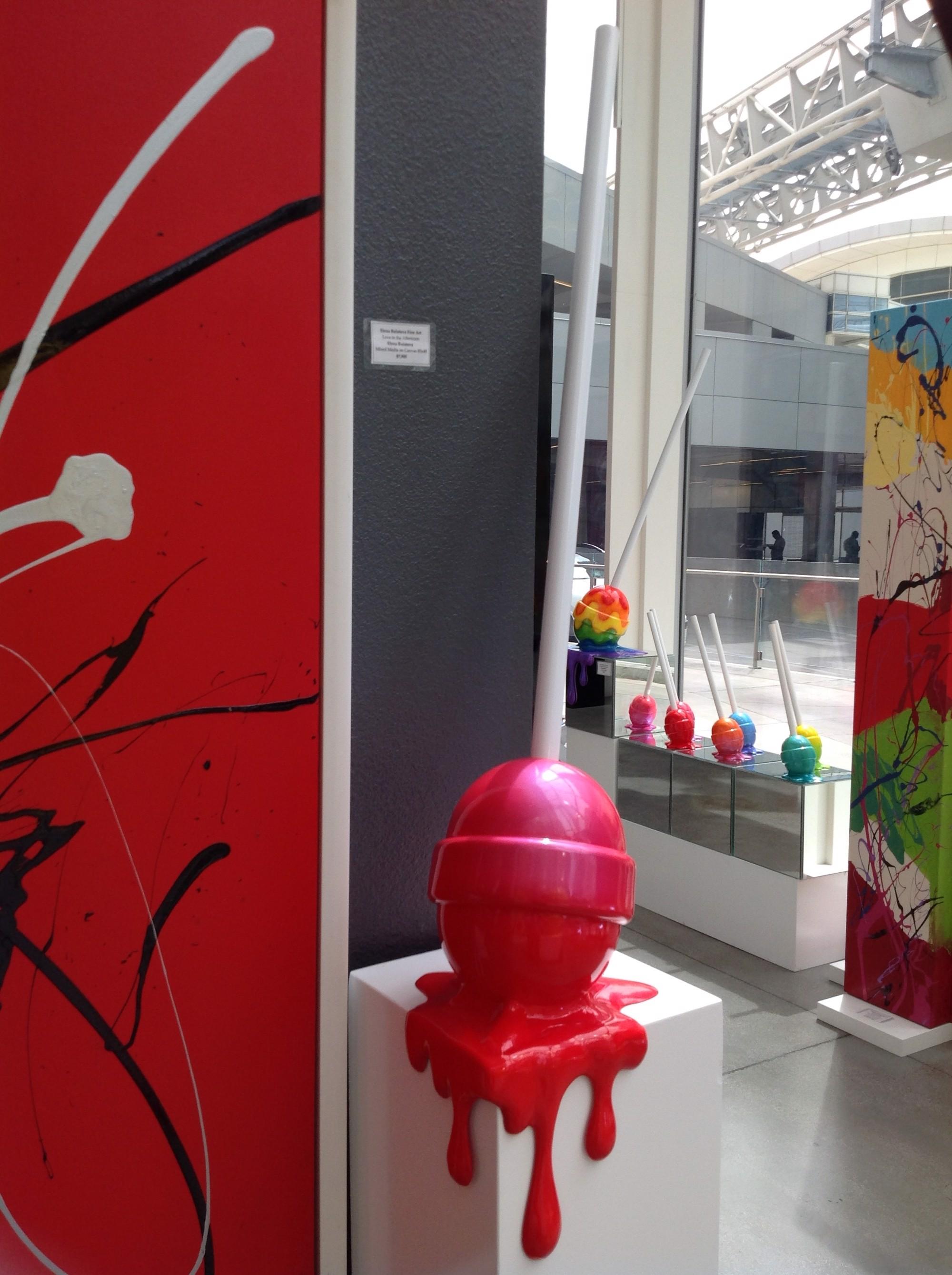 The Sweet Life Med. Red Ombré Corner Drip Lollipop by Elena Bulatova