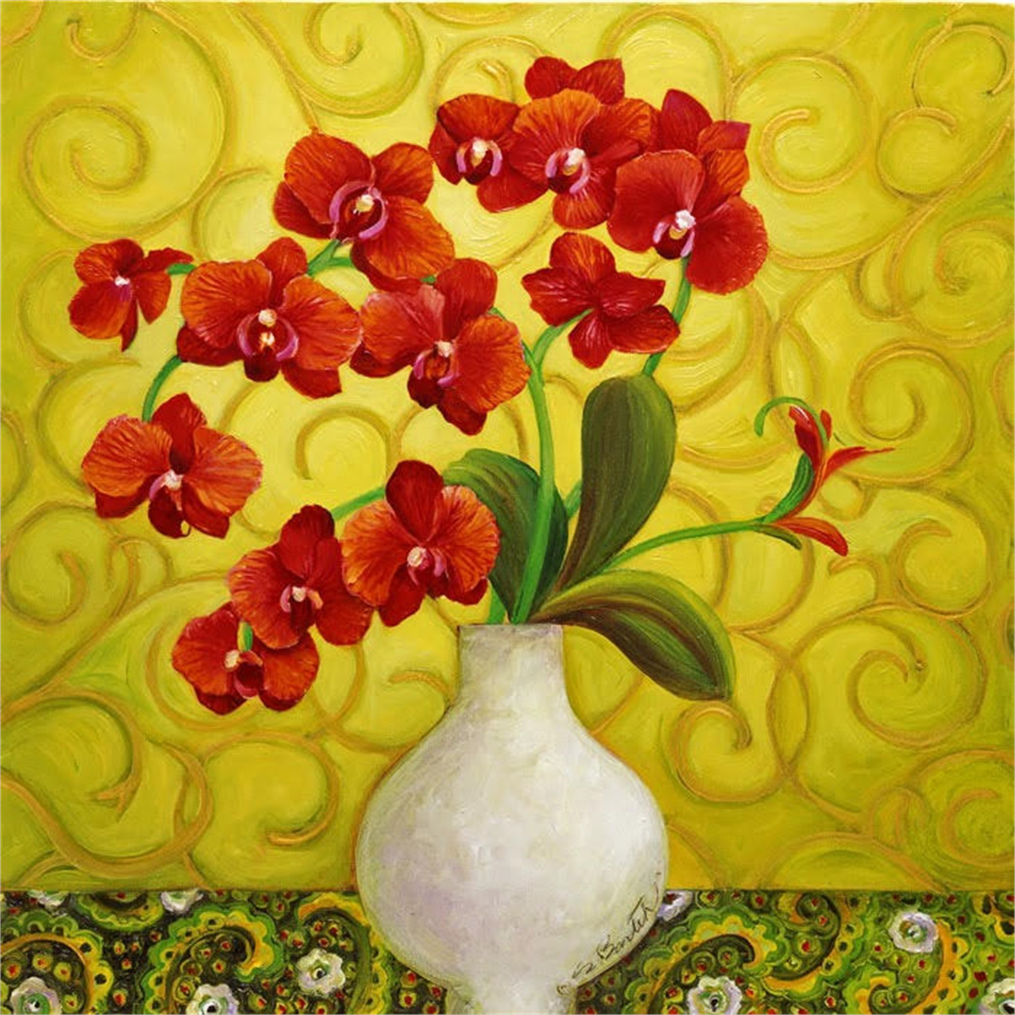 Red Orchids by Shelly Bartek