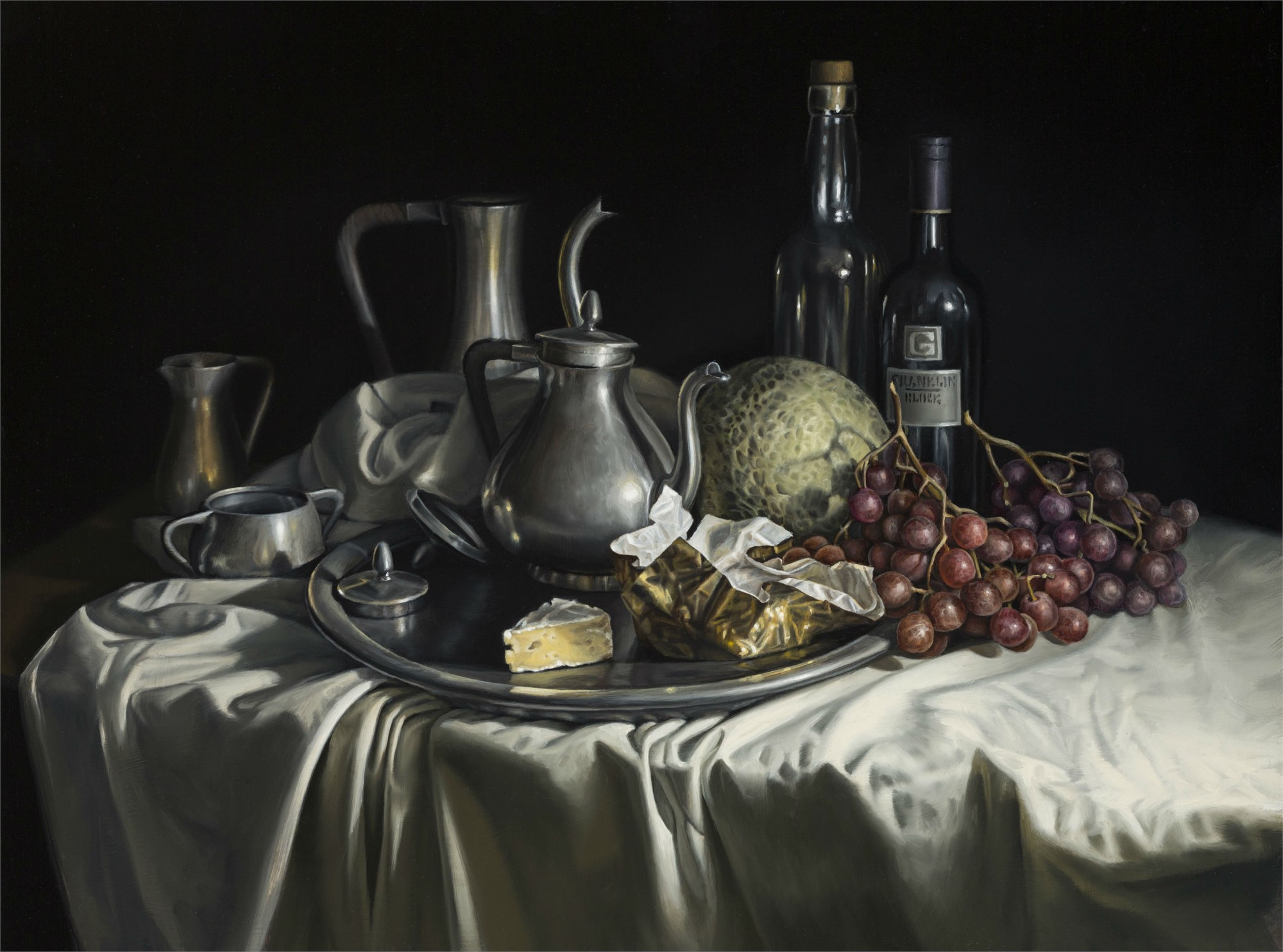 Grapes and Brie by Gregory Block