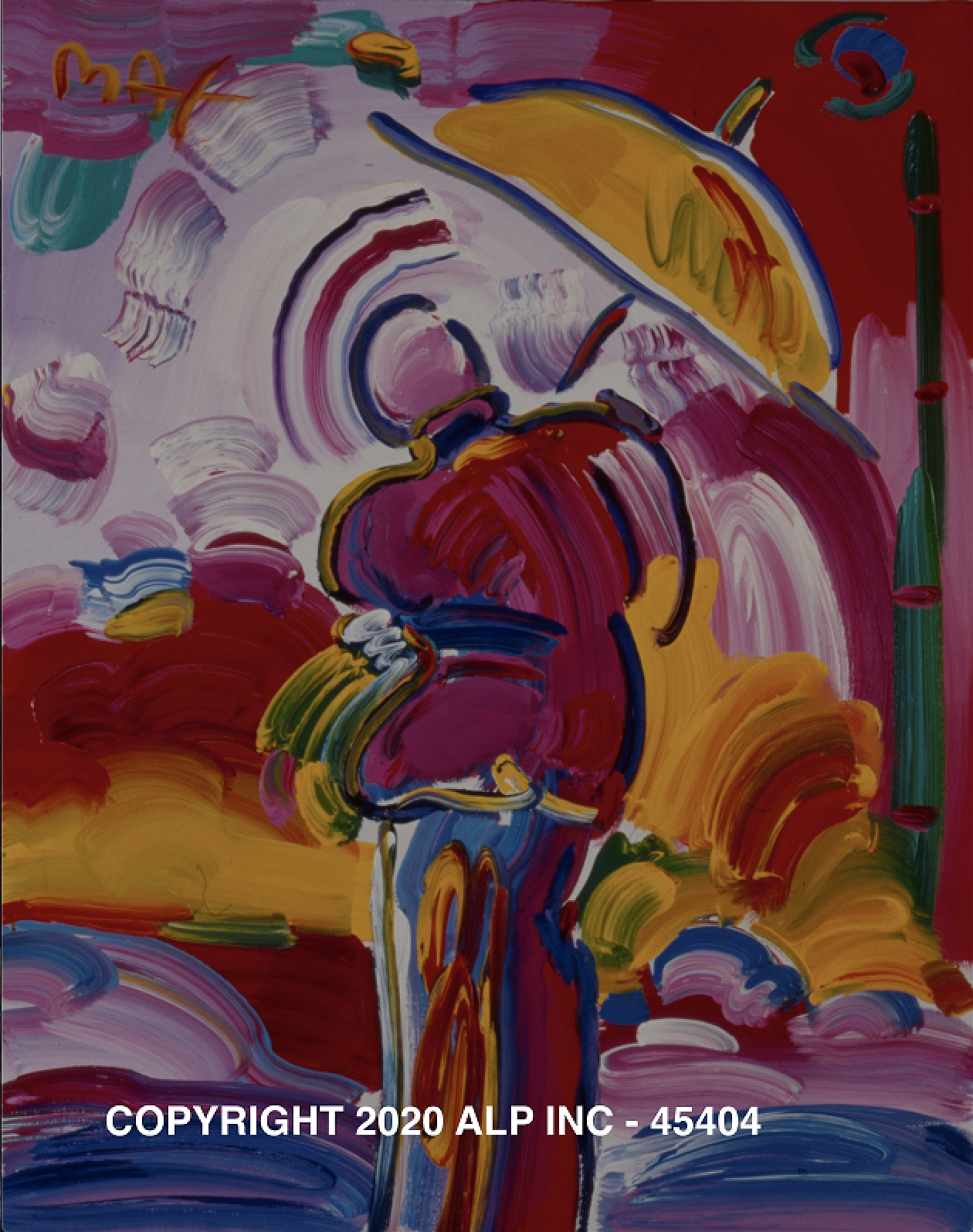 Sage with Umbrella III Ver. II #1 - Vintage Collection by Peter Max