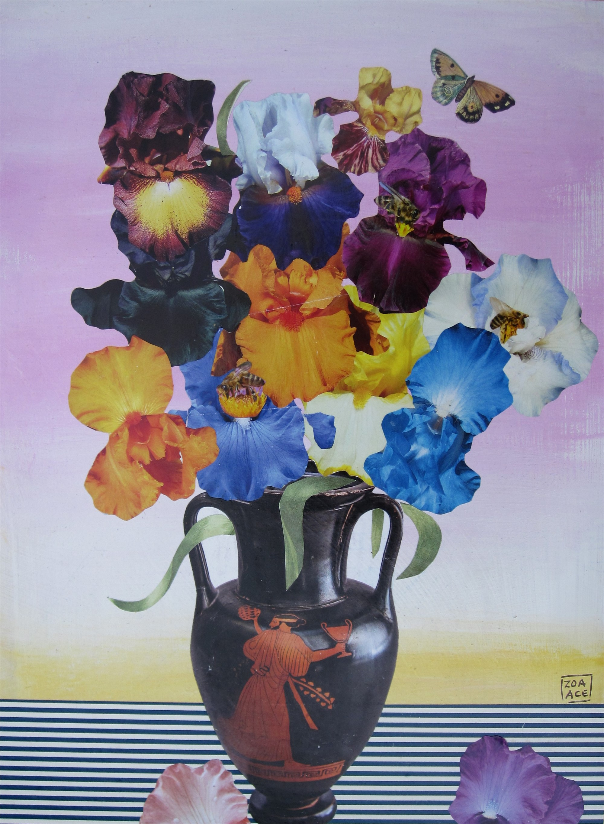 Iris in a Greek Vase by Zoa Ace