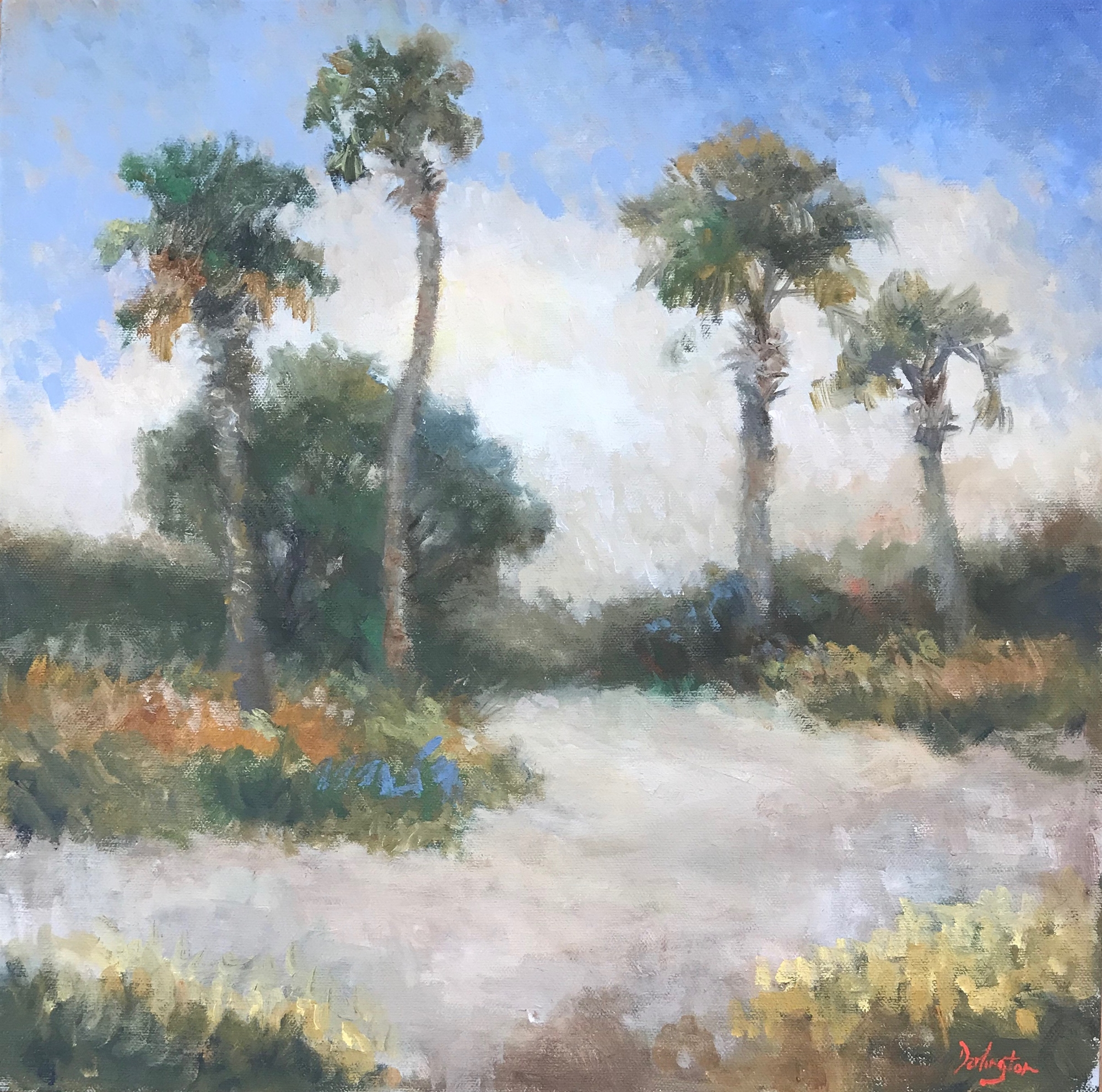 Palmettos on the Beach by Jim Darlington