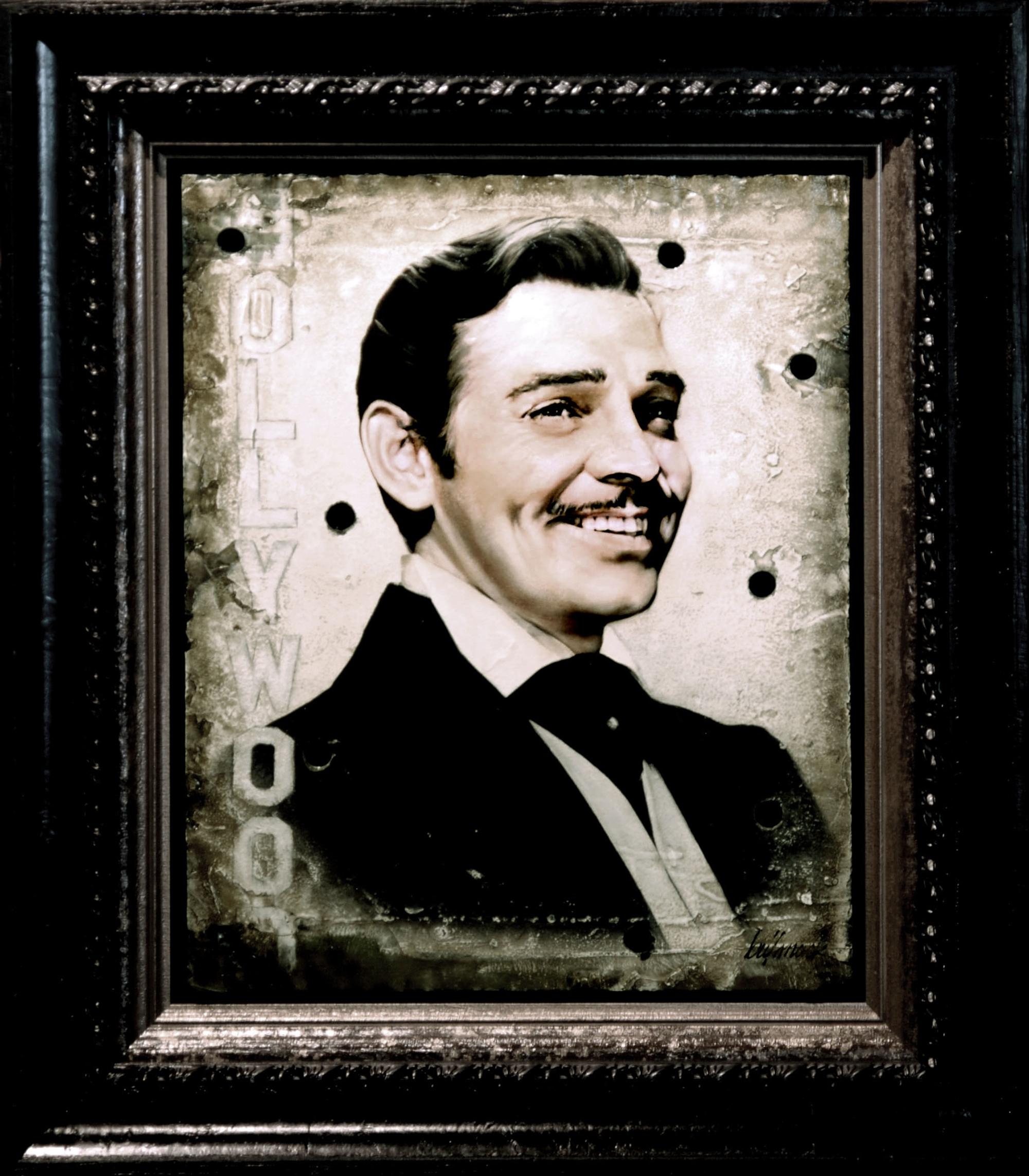 Clark Gable by Bill Mack Hollywood Sign