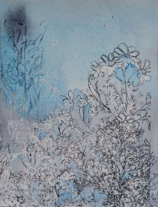 Blue Garden ii by Pantea Kharimi
