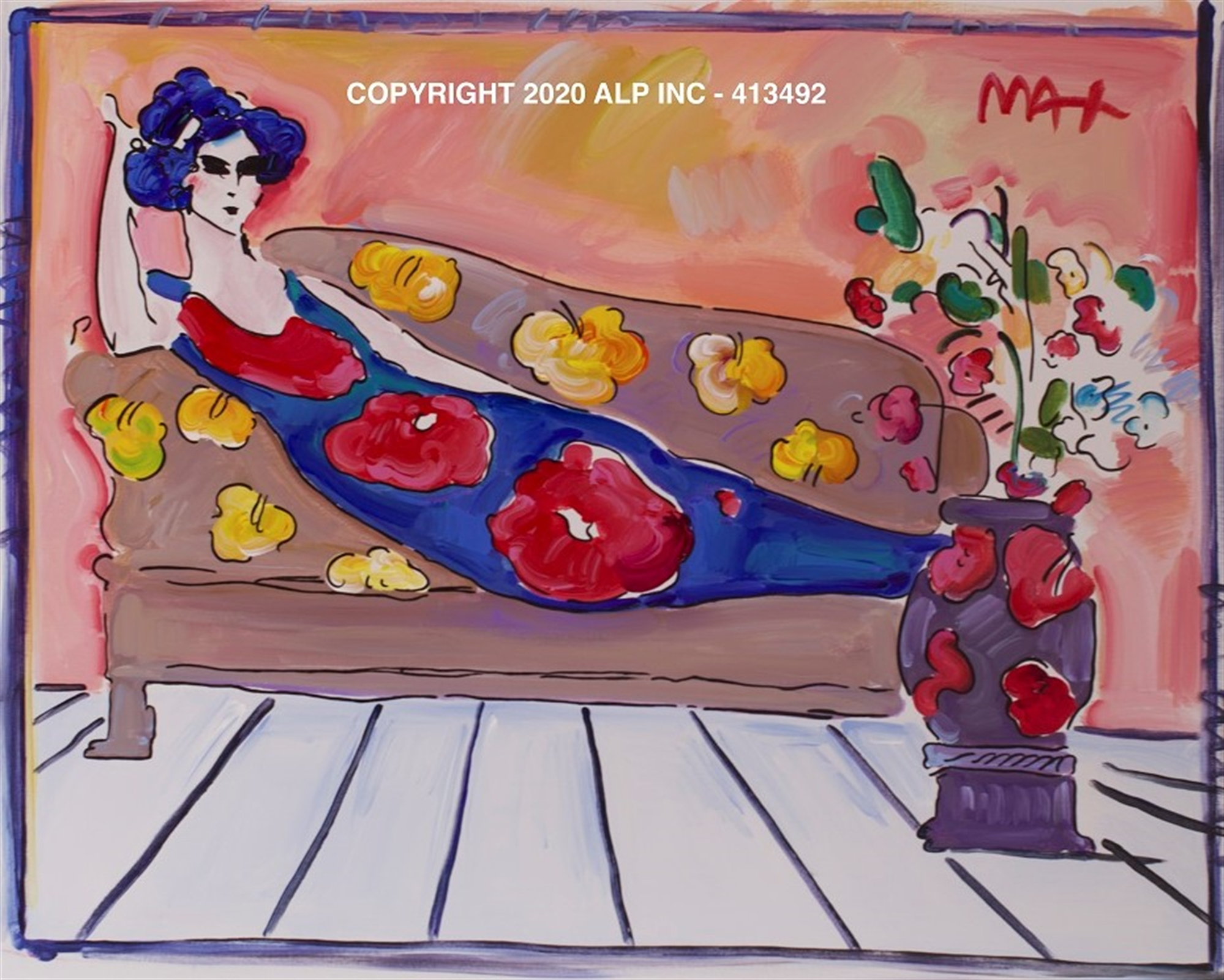 Reclining Woman Ver. I #2 - Vintage Collection by Peter Max