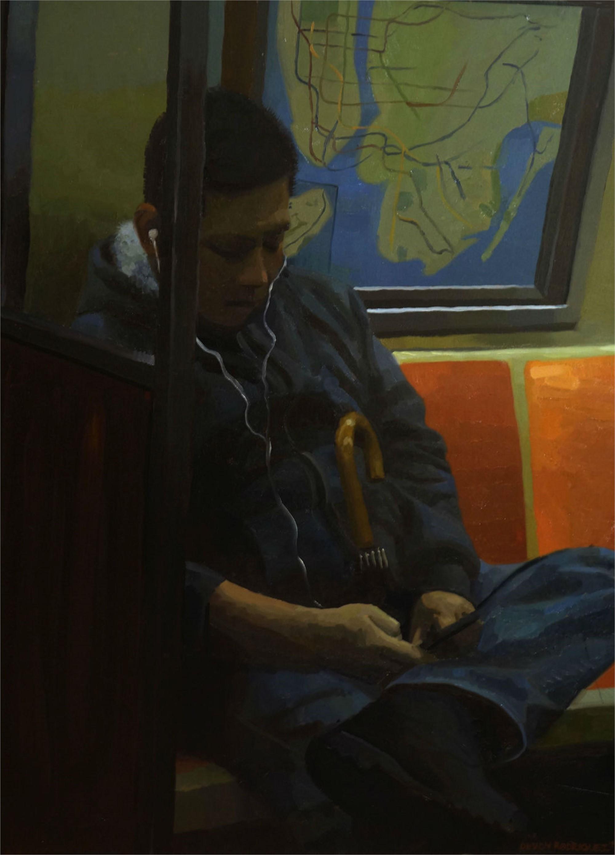 Man with Umbrella by Devon Rodriguez