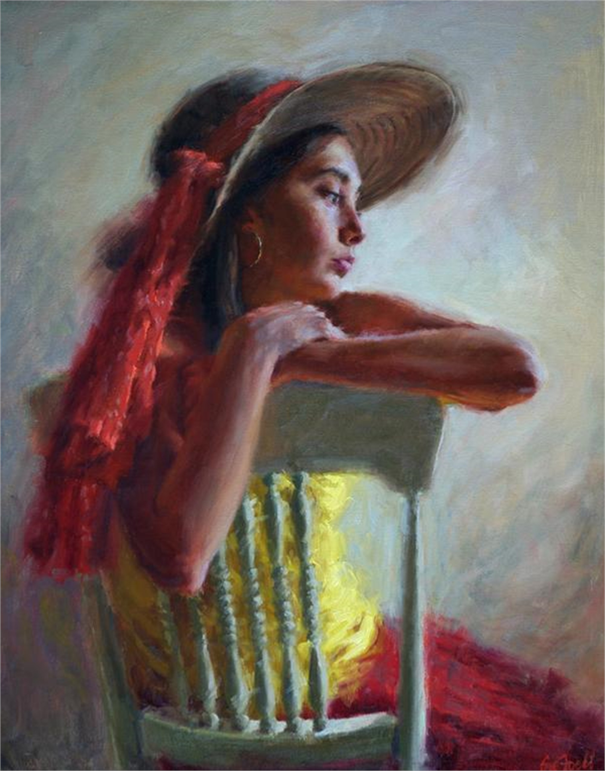 Model in Red and Yellow by Sue Foell, OPA