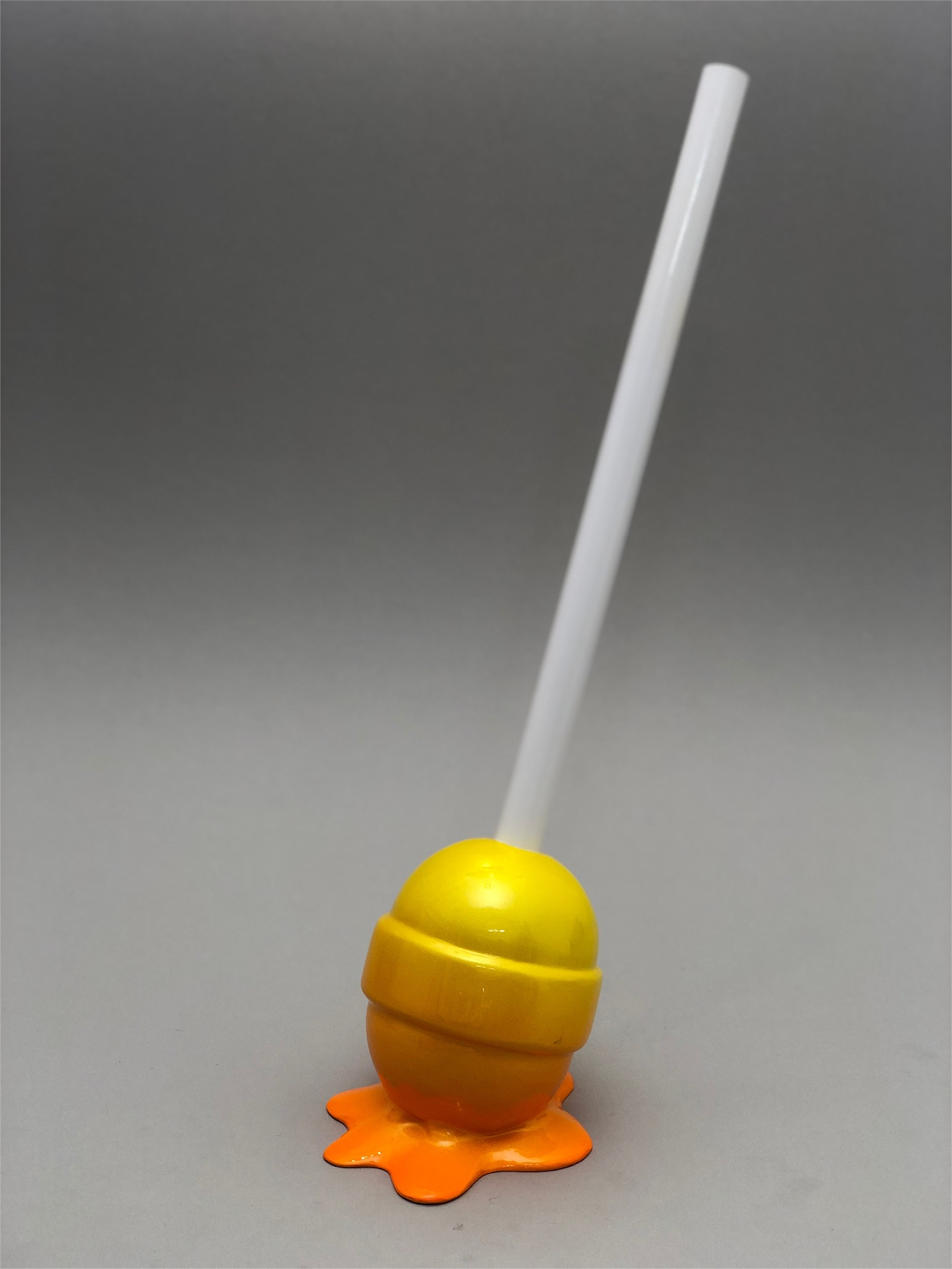 The Sweet Life, small, yellow/orange ombré Lollipop by Elena Bulatova