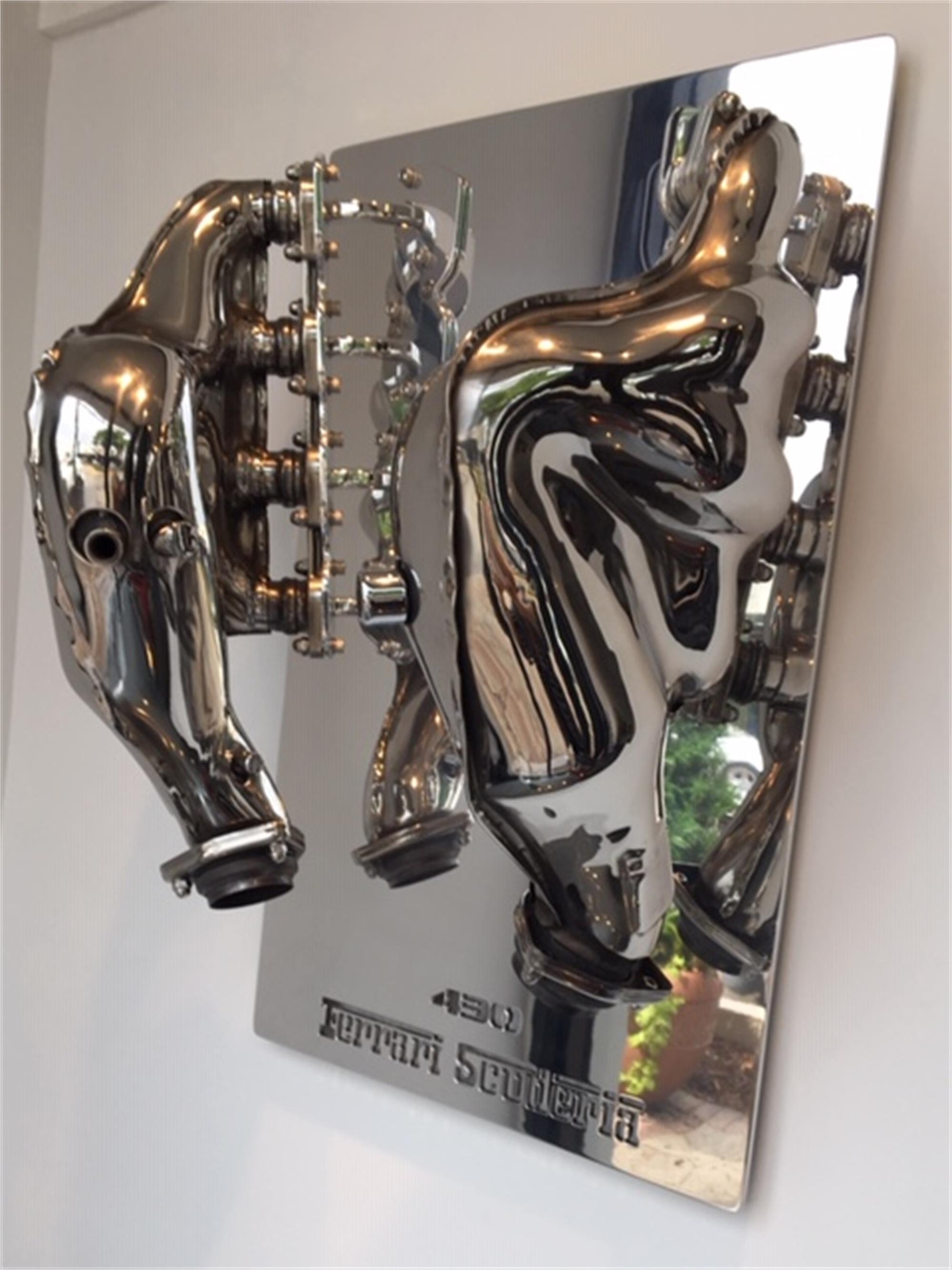 Ferarri Manifold Sculpture by Tom Bates