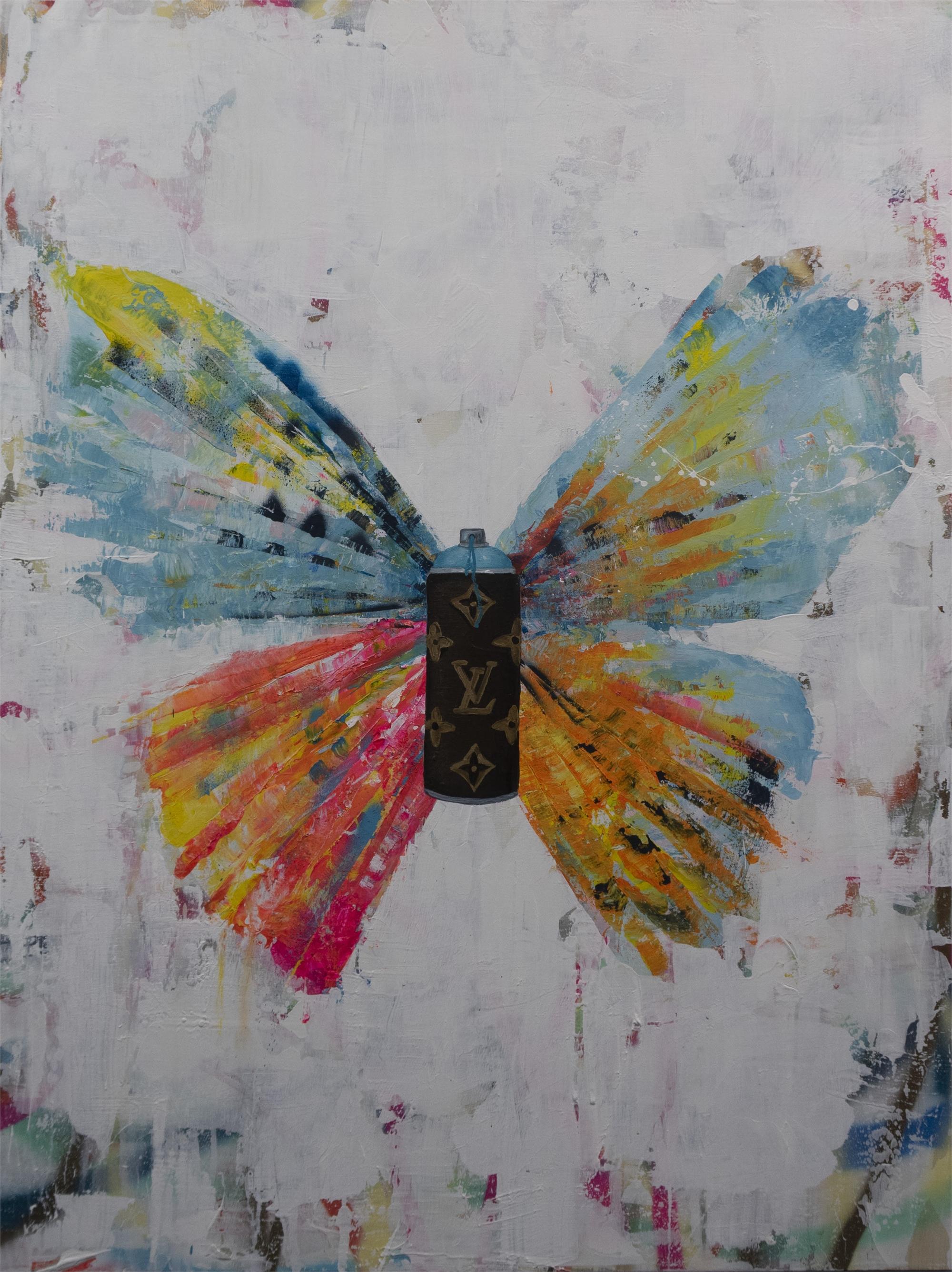 Butterfly With Spraycan by Daniel Maltzman