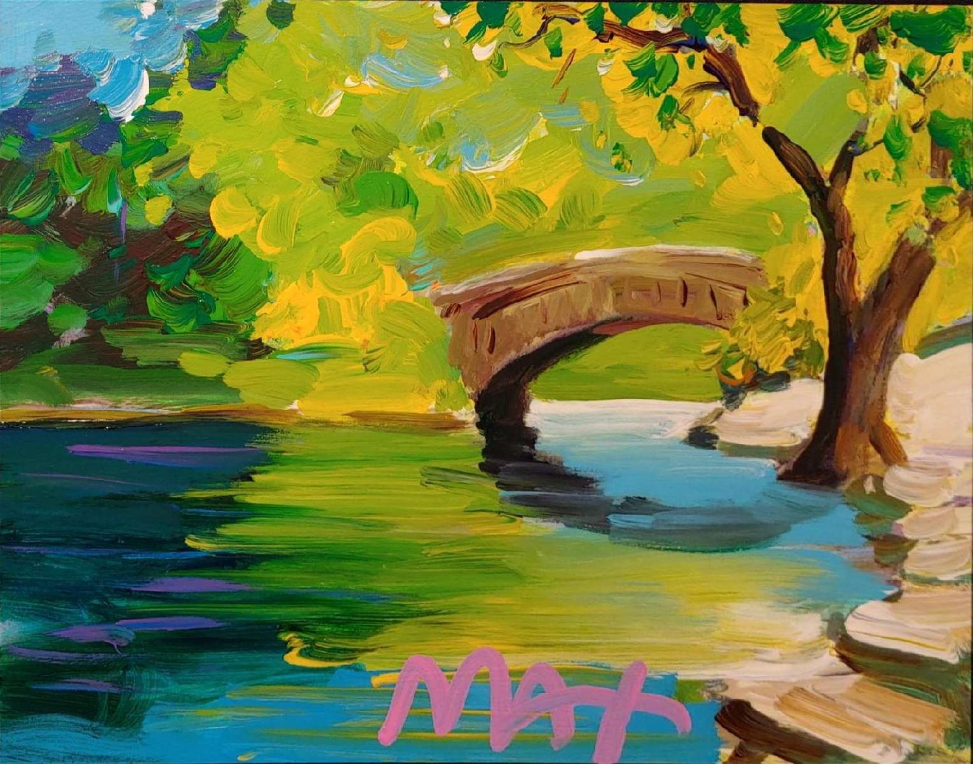 FOUR SEASONS II: SUMMER (CENTRAL PARK) by Peter Max