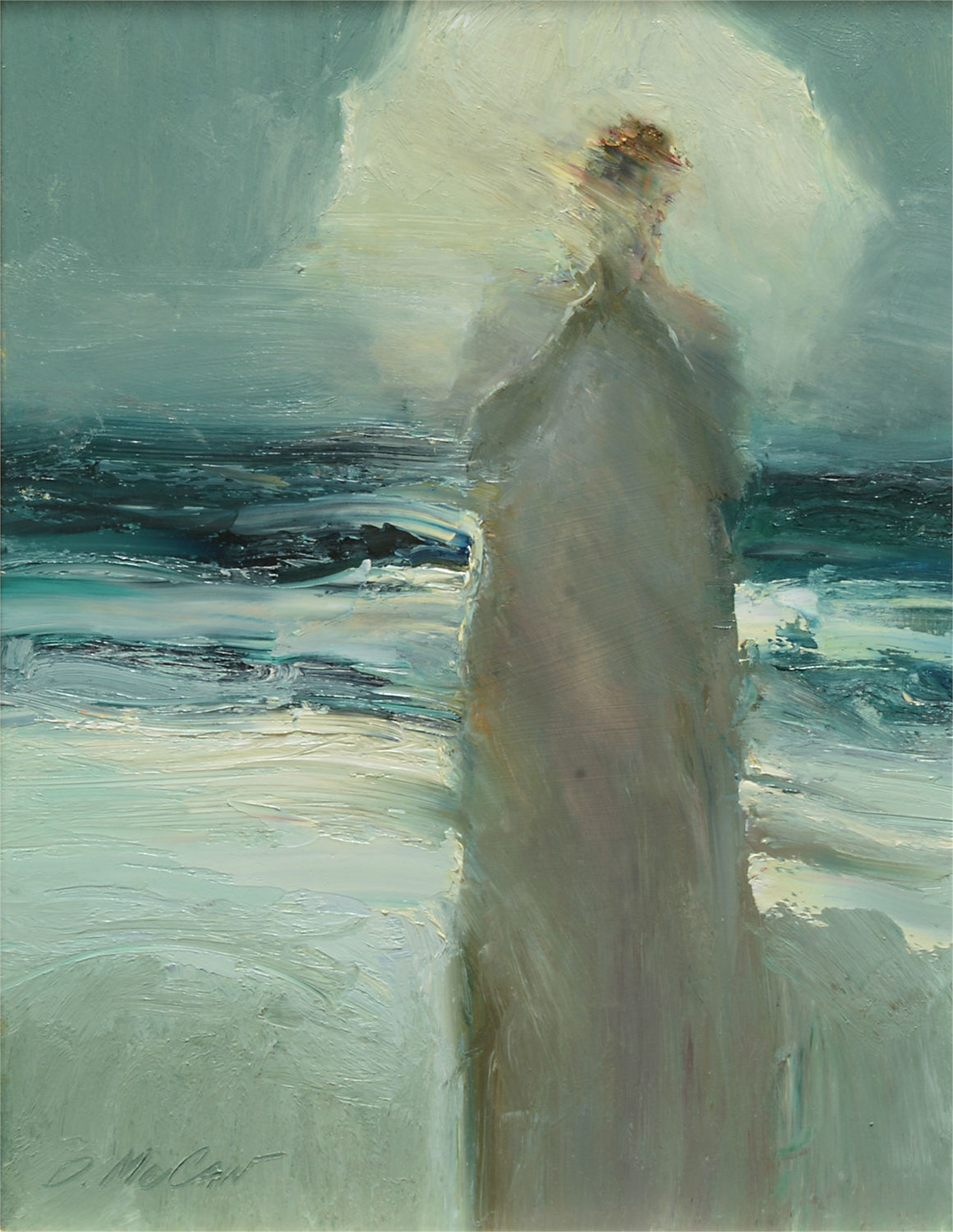 Figure with Umbrella by Dan McCaw
