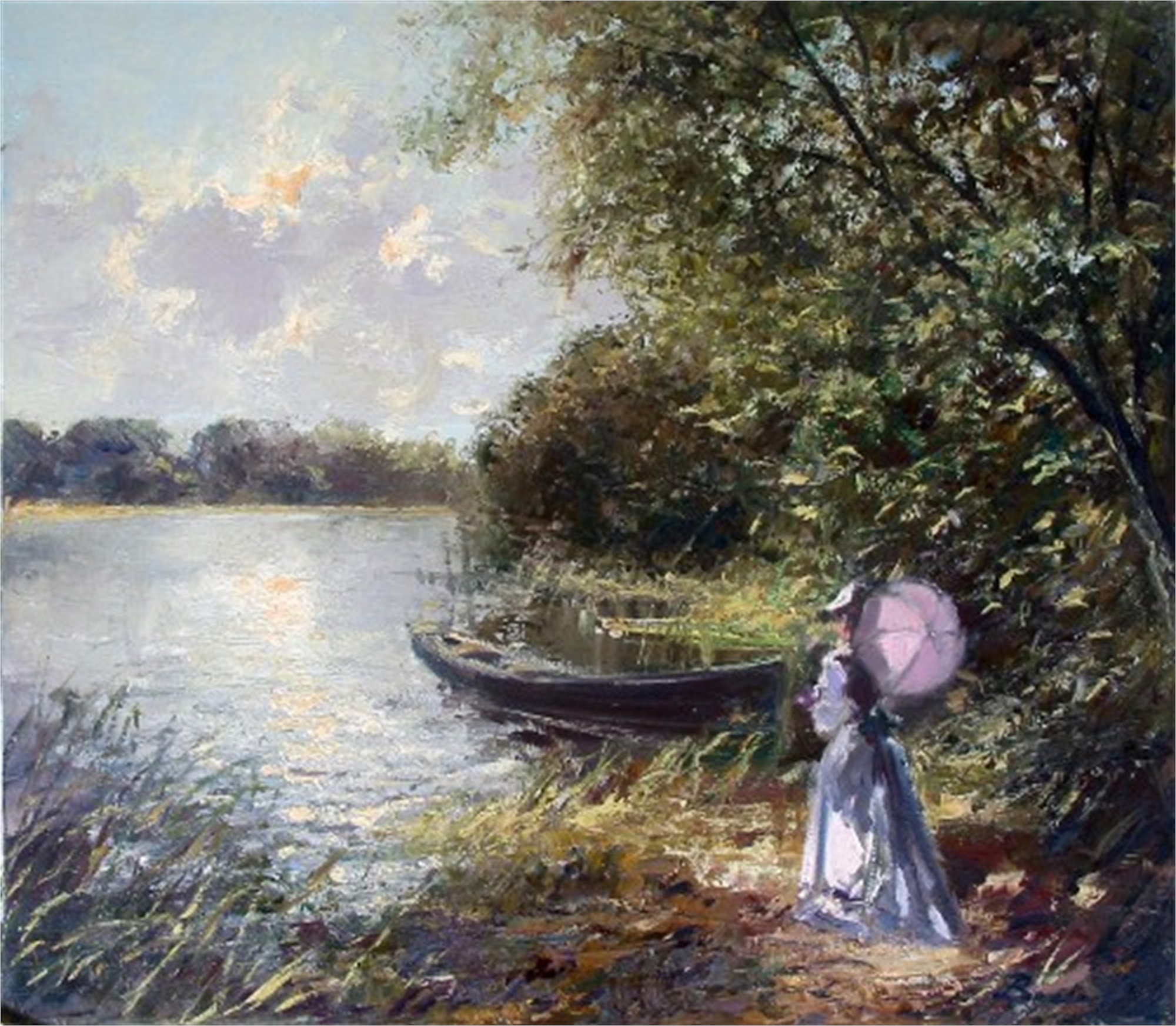 GIRL BY THE LAKE by BECKER