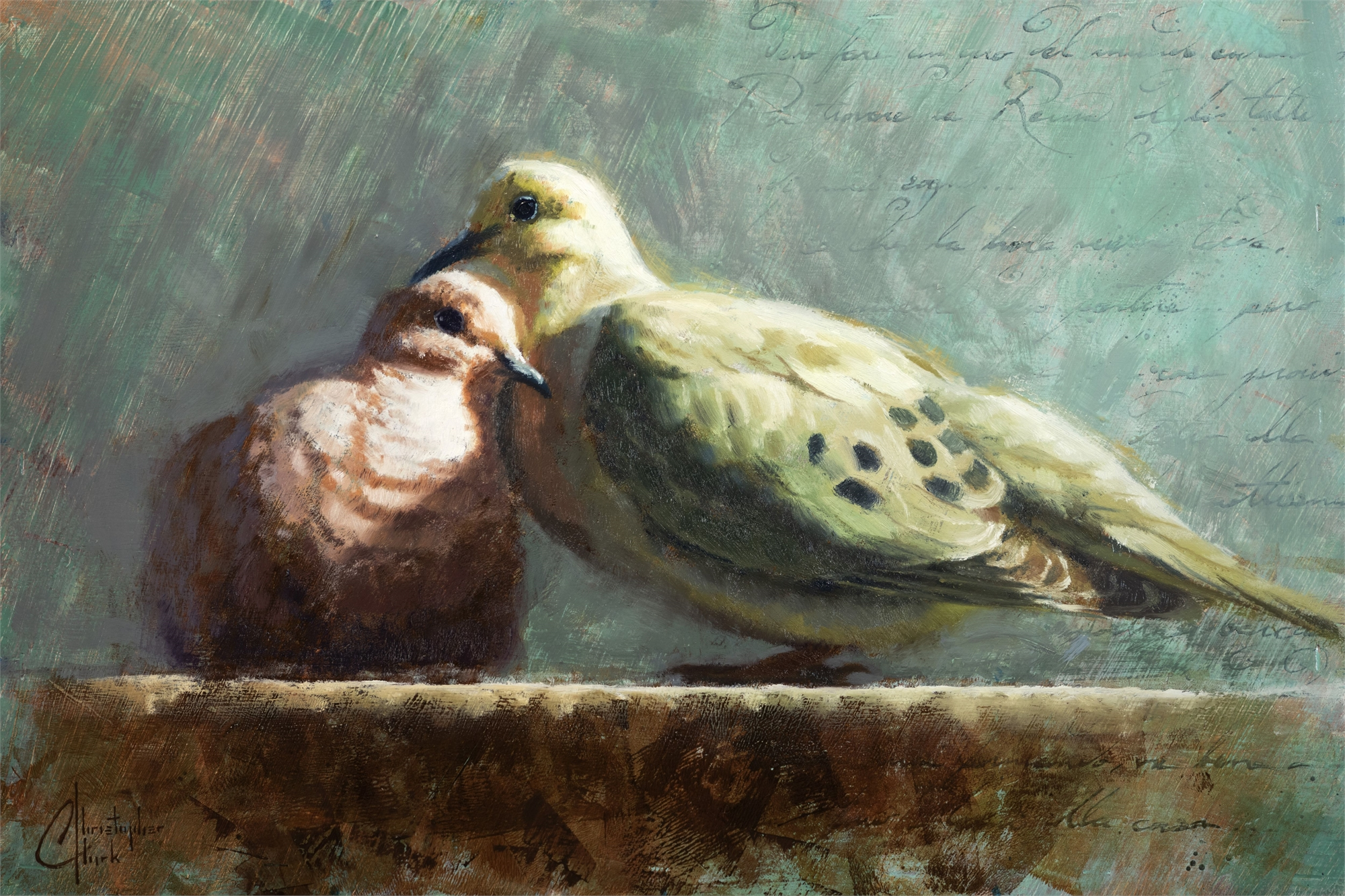 Doves in Love by Christopher Clark