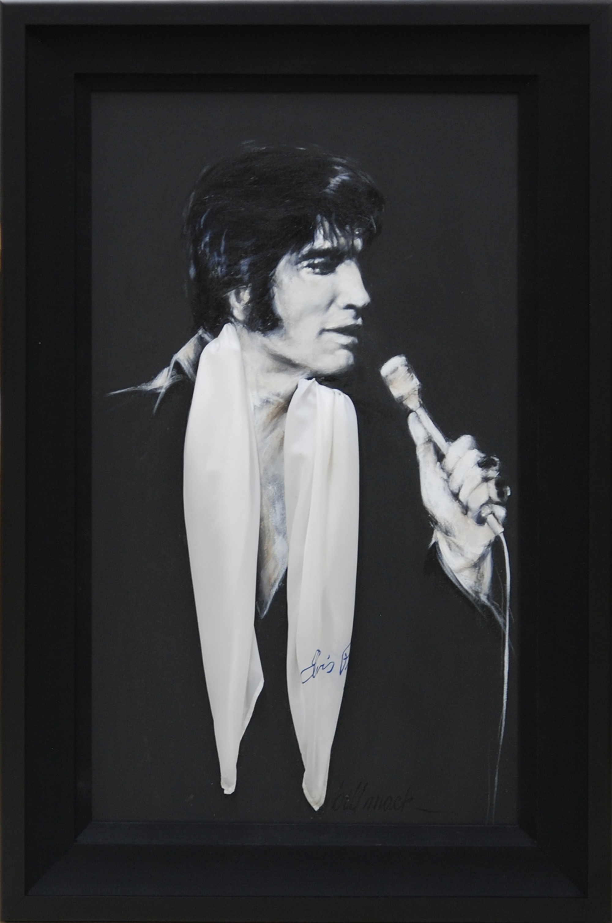 The King with Scarf by Bill Mack