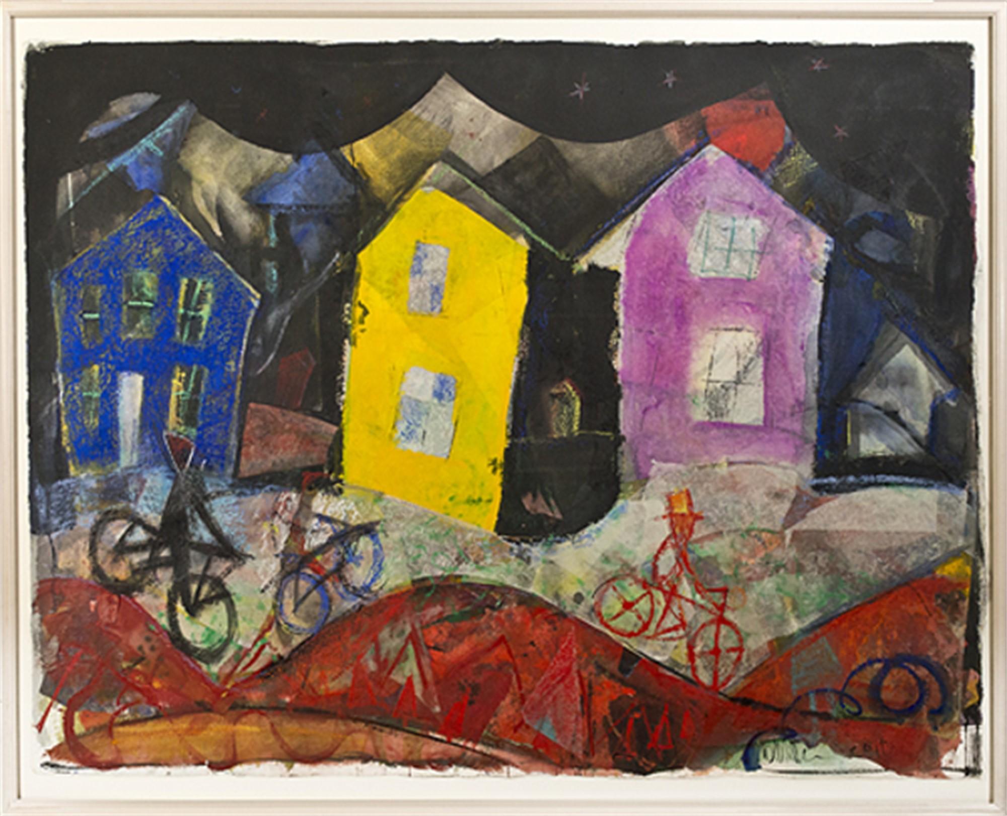 Houses at Night by Dan Muller