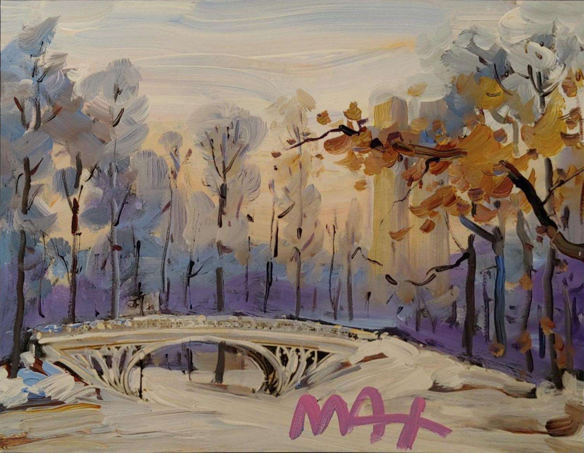 FOUR SEASONS II: WINTER (CENTRAL PARK) by Peter Max