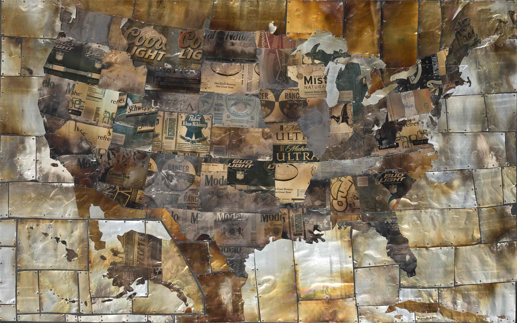 U.S. Map by Gregory Block