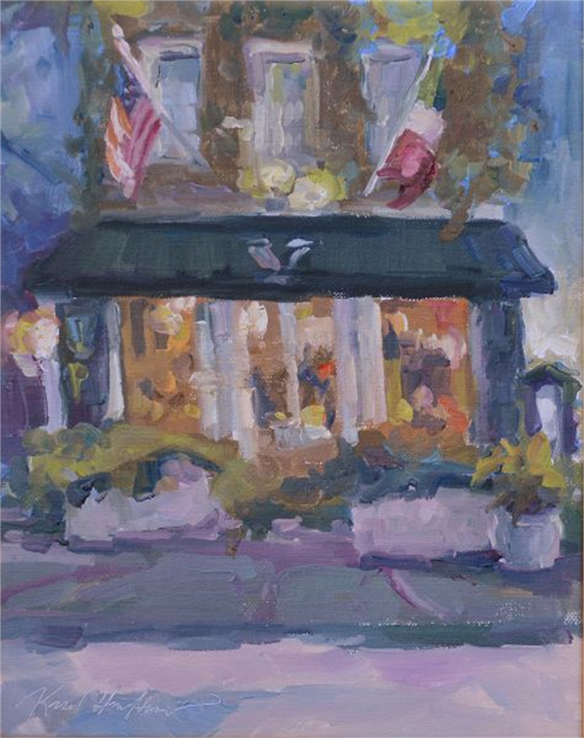 Night Time On Fulton Street by Karen Hewitt Hagan