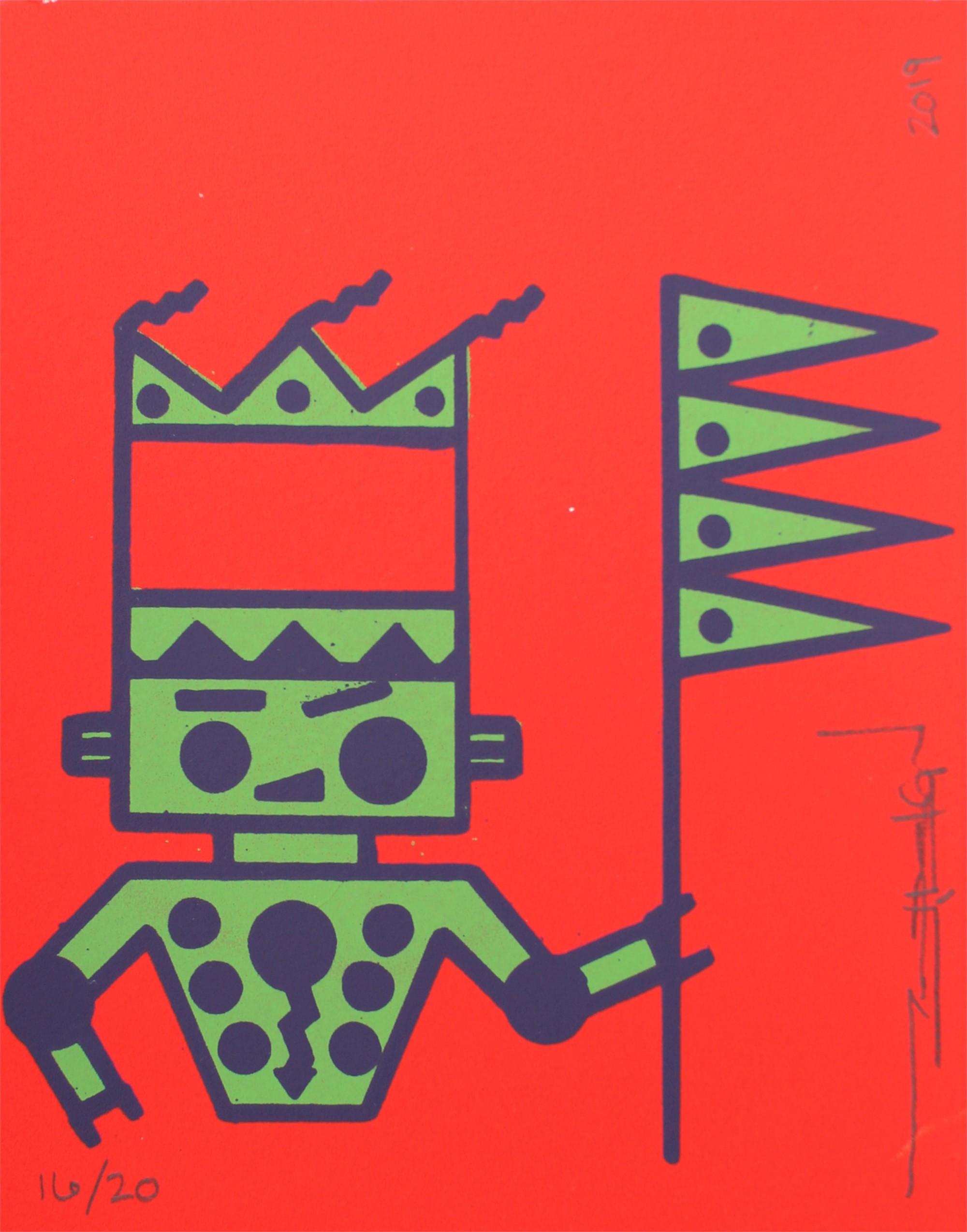Piikani Bot w/Staff by Terran Last Gun
