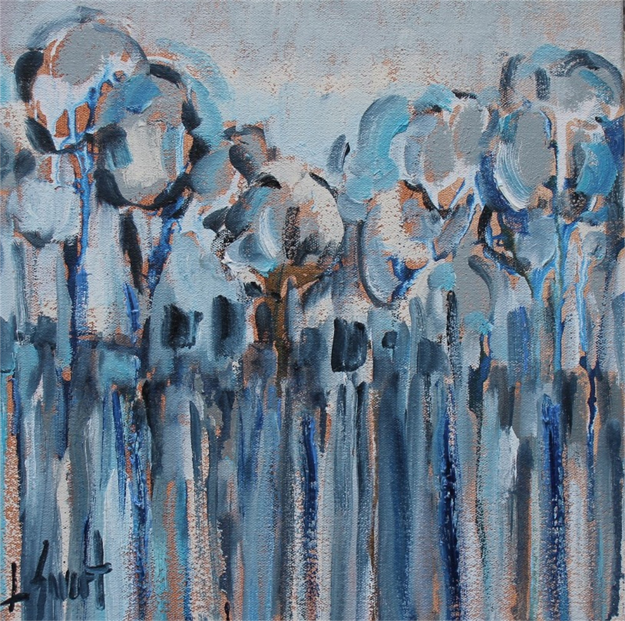Blue Trees by Libby Smart