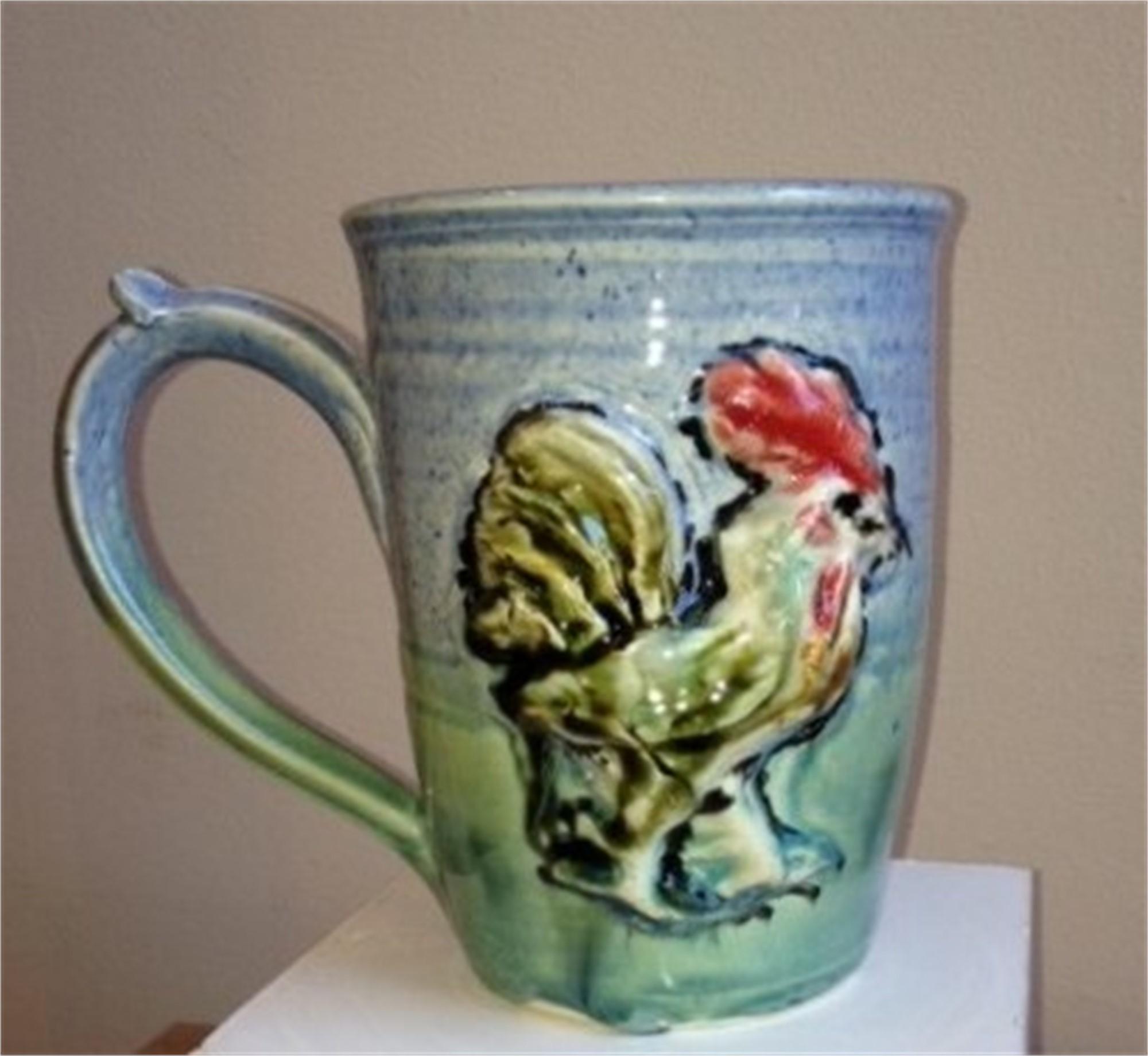Rooster Mug by Kate Krause