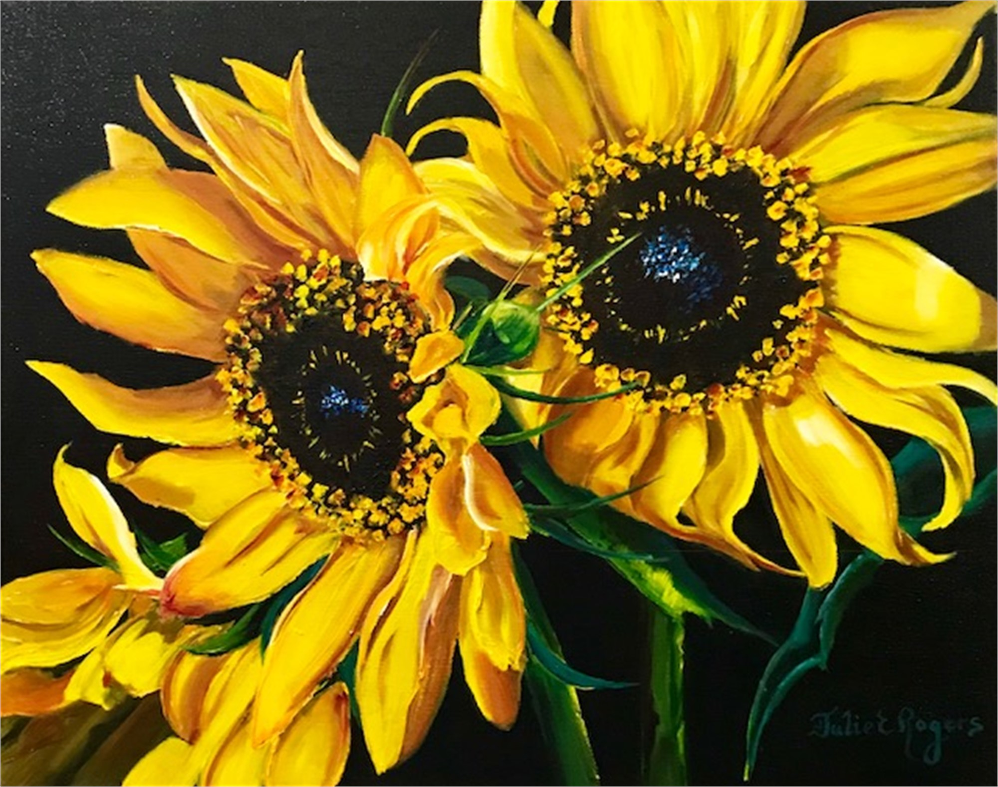 Sunflowers #7, 2018 by Julie Rogers