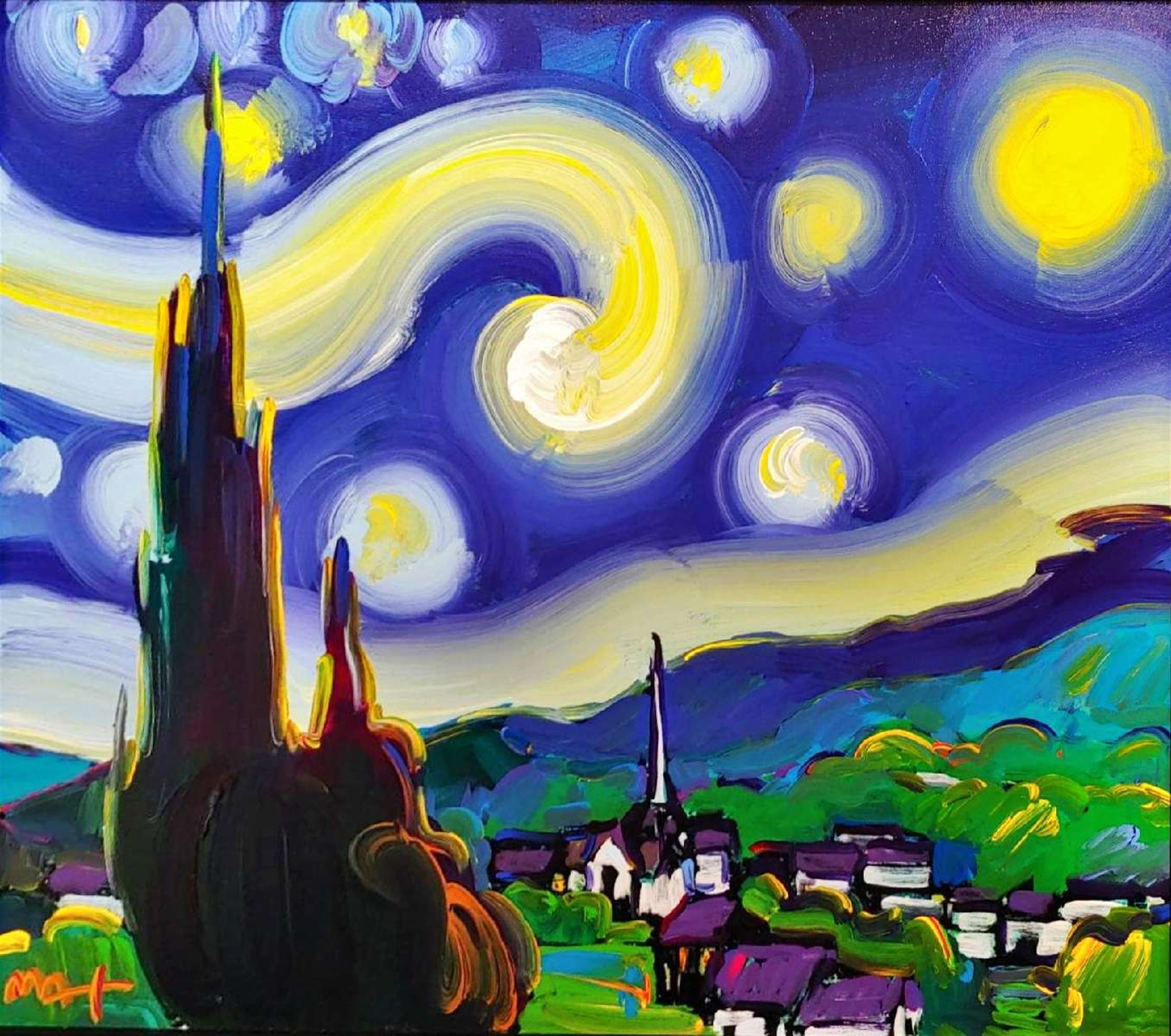 STARRY STARRY NIGHT by Peter Max