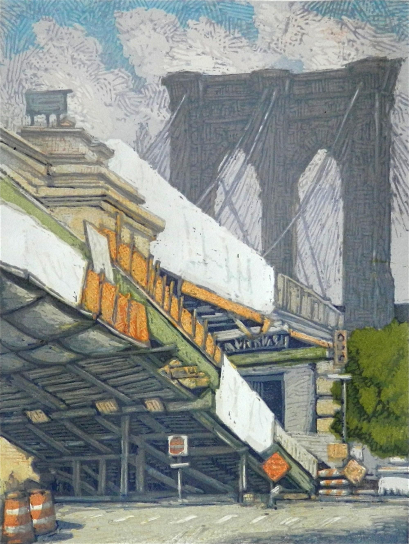 Brooklyn Bridge a la Cristo by Leon Loughridge