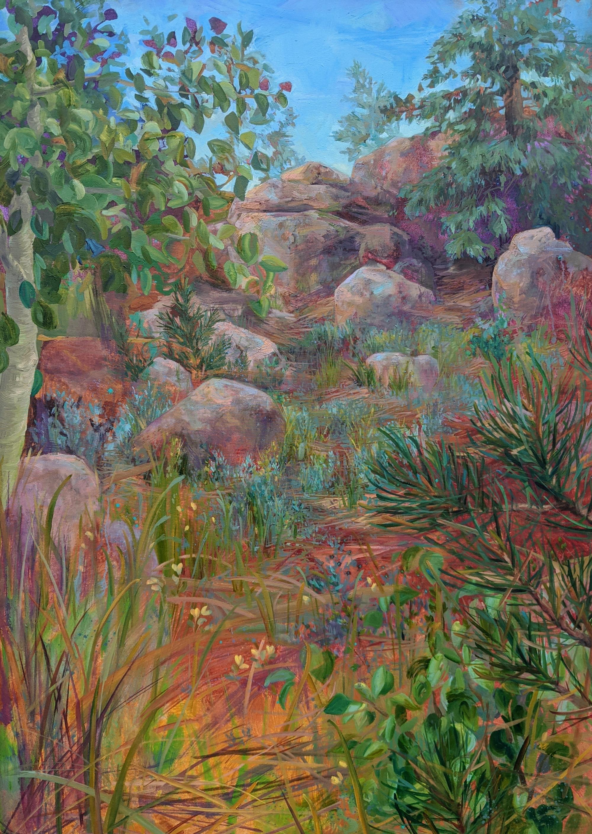 Grasses Falling by Charis Carmichael Braun
