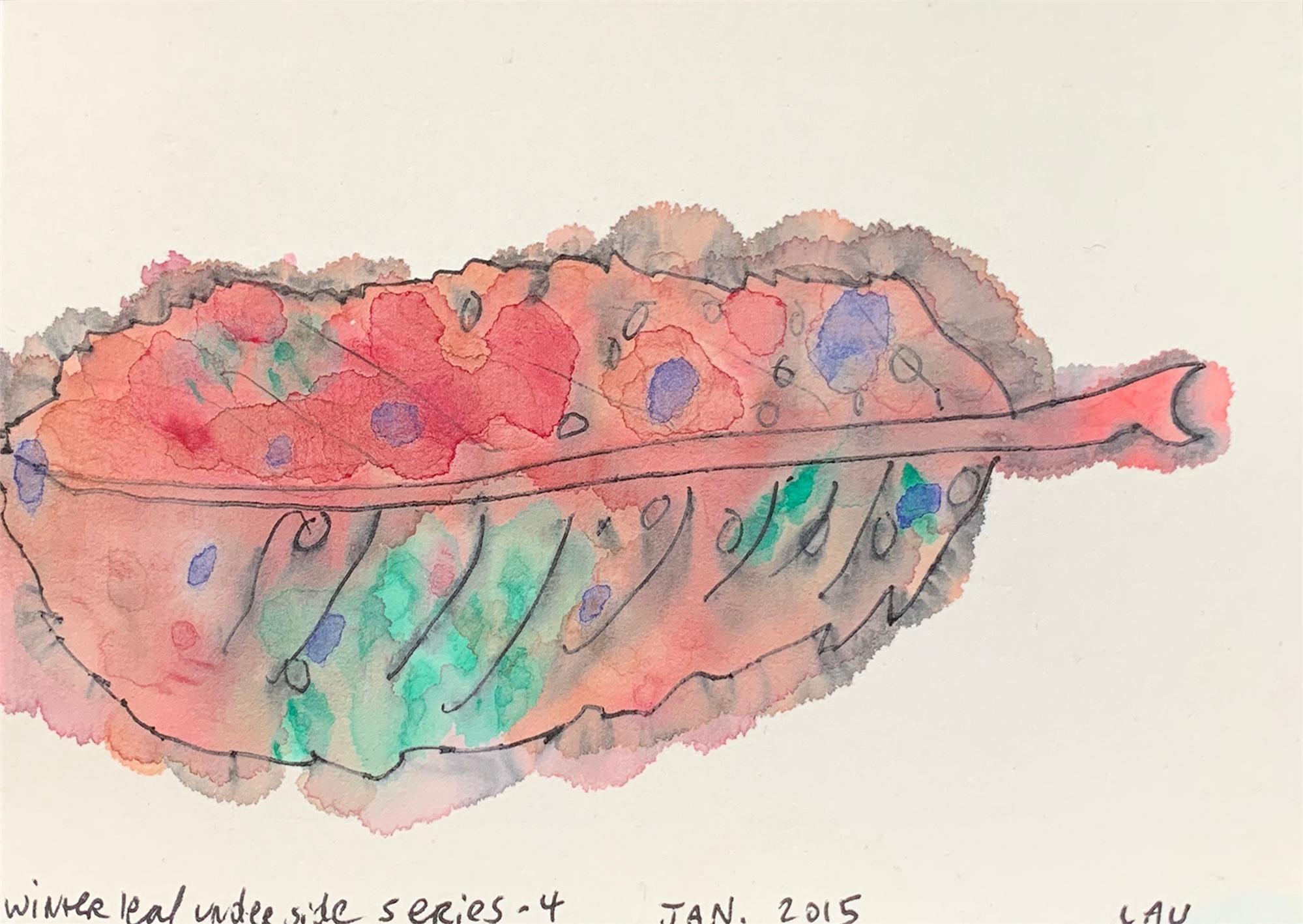 Winter Leaf Underside series 4 by Alan Lau