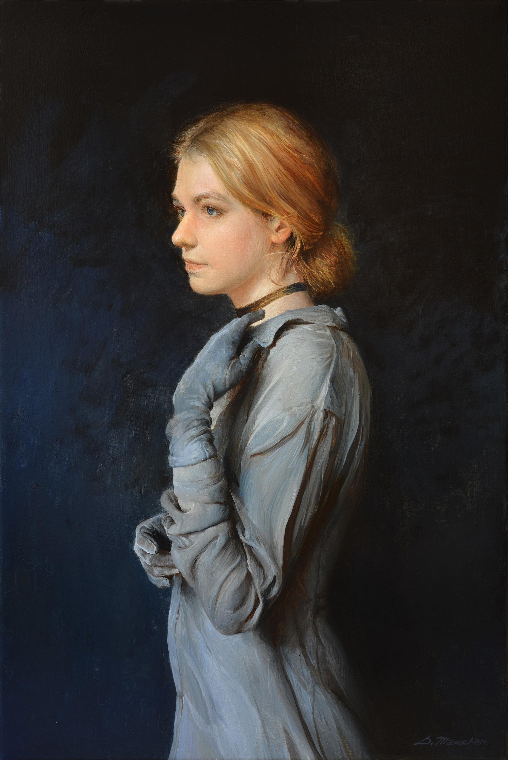Girl in Gloves by Serge Marshennikov