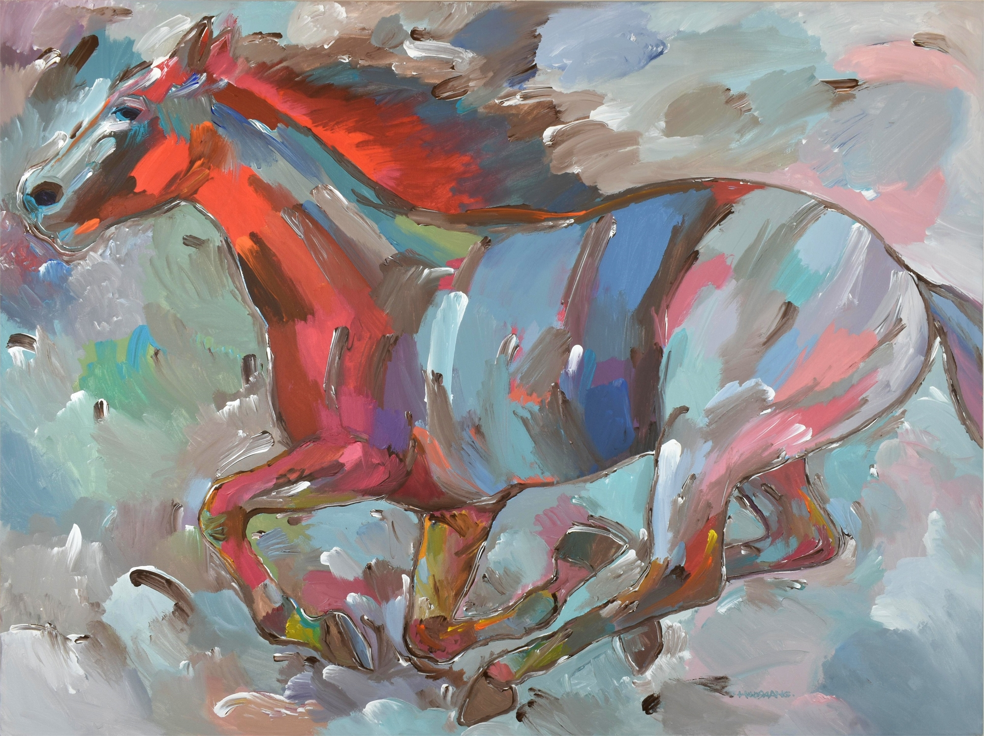 Fiery Runner by Hooshang Khorasani