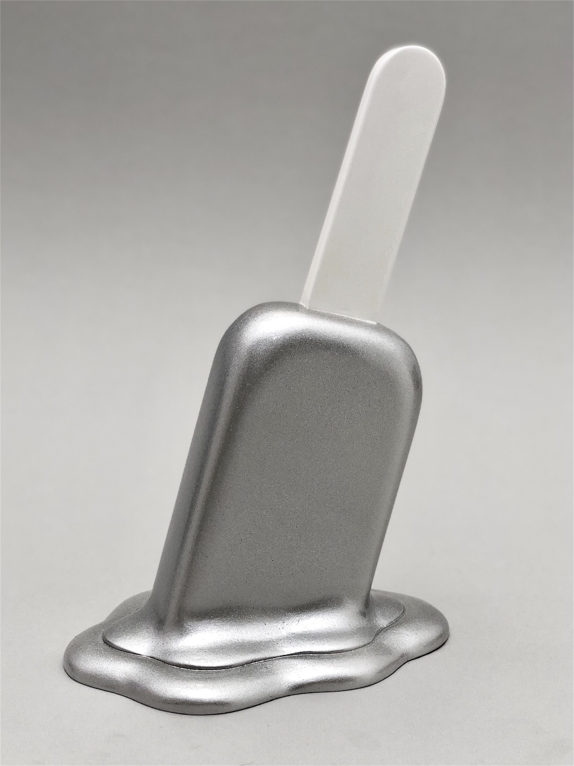 The Sweet Life, small, silver metallic Popsicle by Elena Bulatova