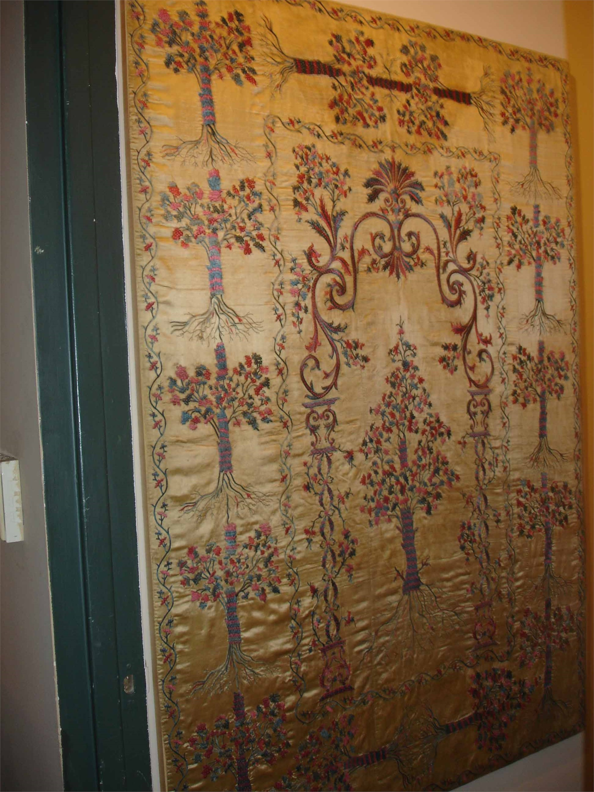 YELLOW SILK EMBROIDERY
