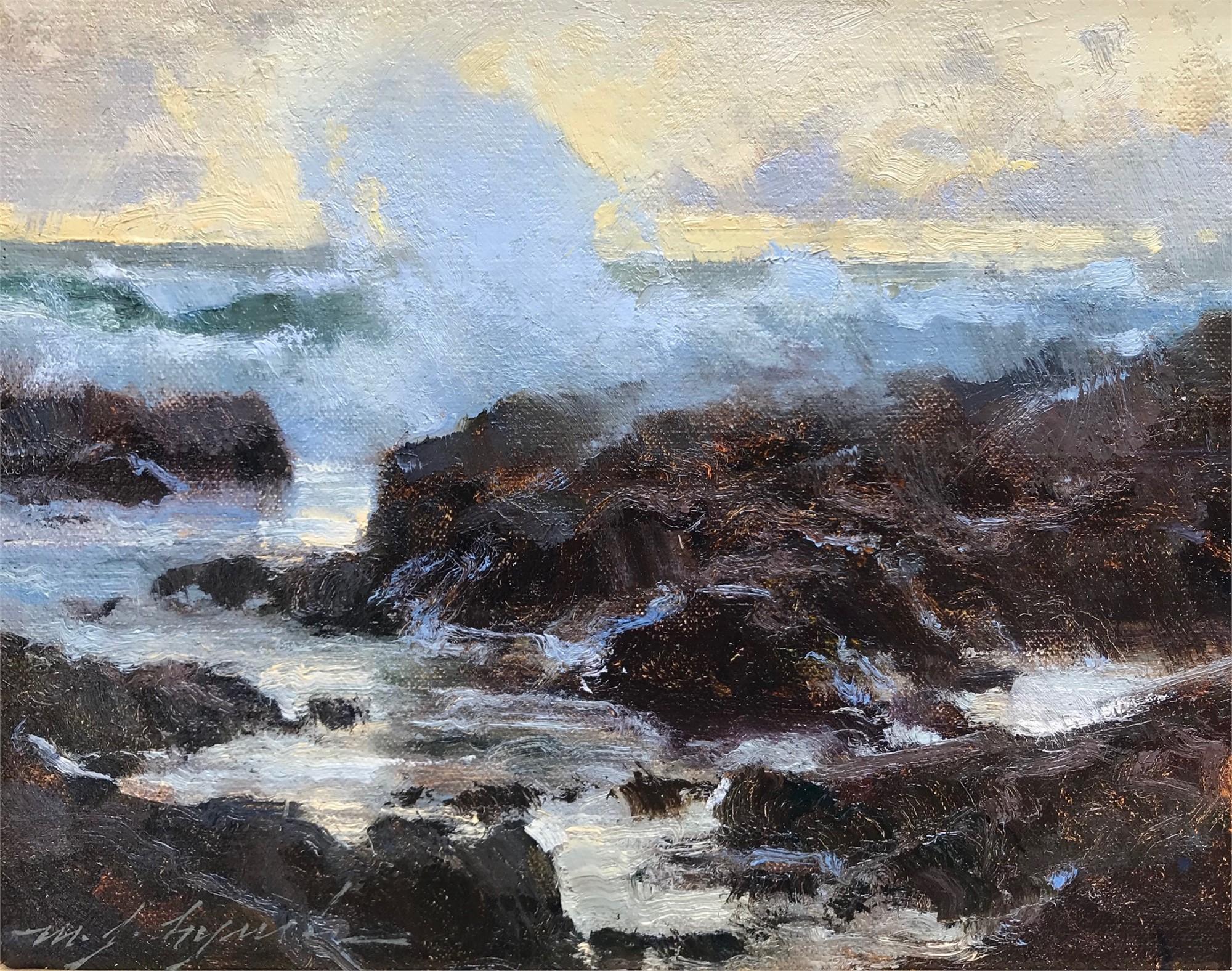 Sea at Dusk by Michael J Lynch