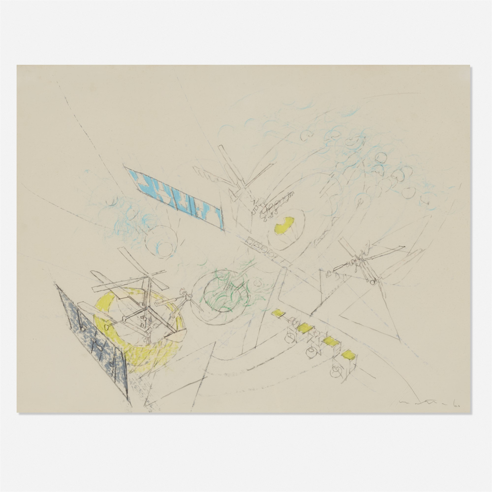 Study for a painting by Roberto Matta